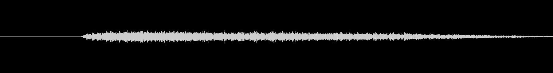 プシュッ(蒸気が漏れる音)の未再生の波形