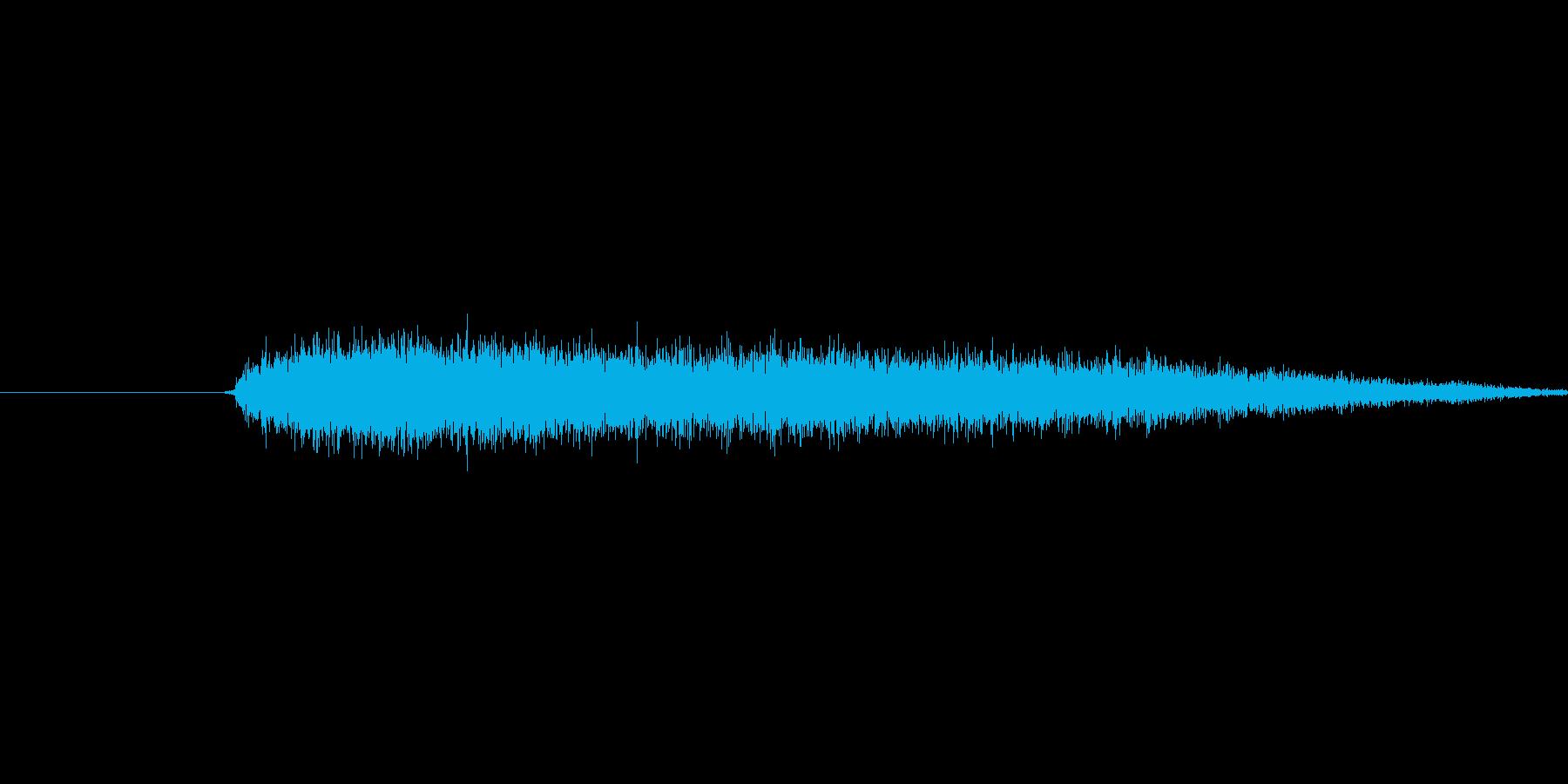 プシュッ(蒸気が漏れる音)の再生済みの波形