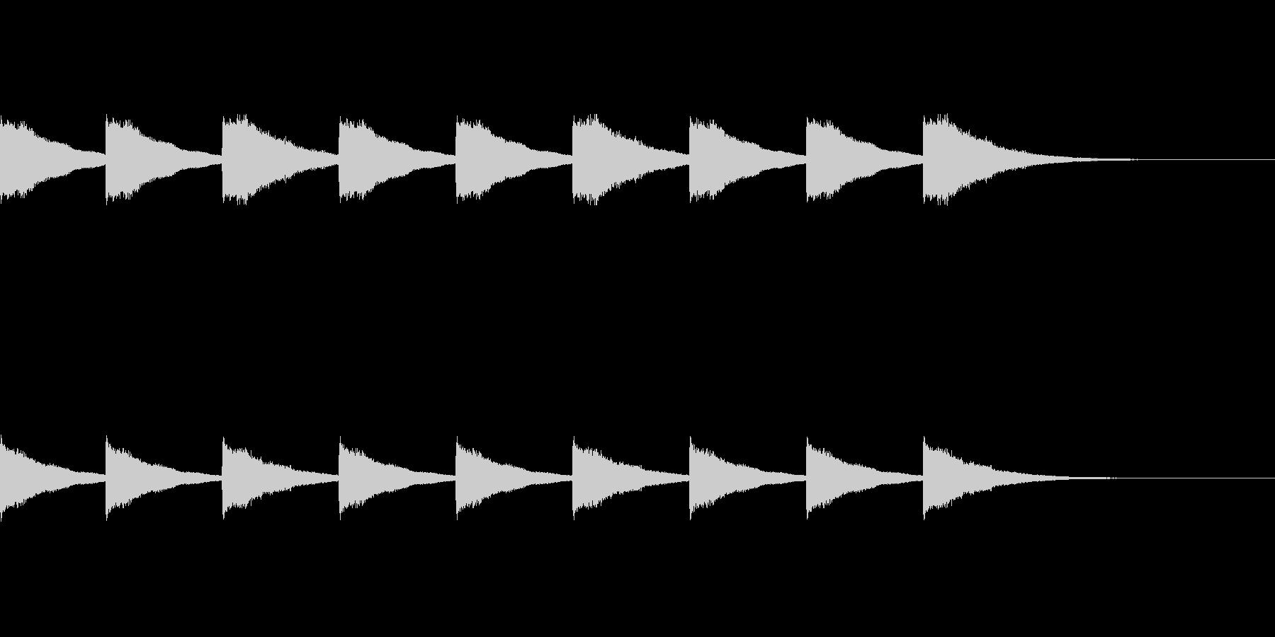 シンプルな教会の鐘の音ですの未再生の波形