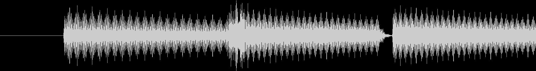 ゲーム(キャンセル、取り消し)の音の未再生の波形