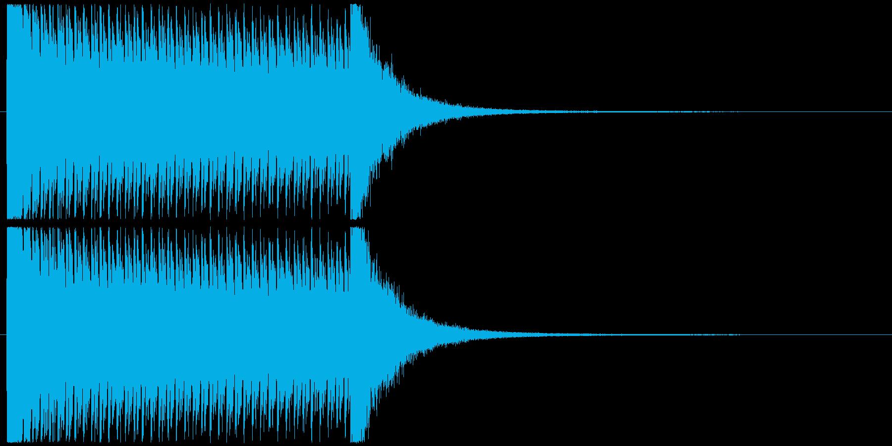 5秒ドラムロールの再生済みの波形