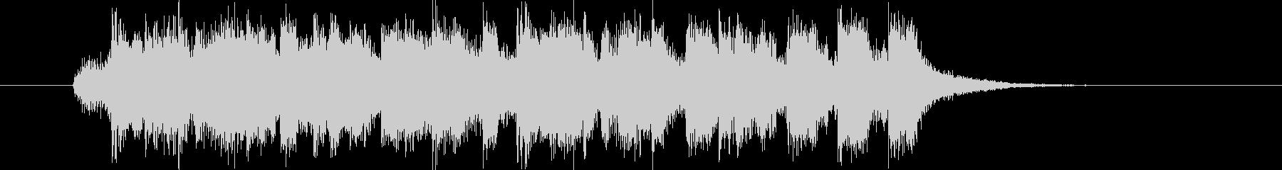 盛大で明るいシンセサイザーサウンドの未再生の波形