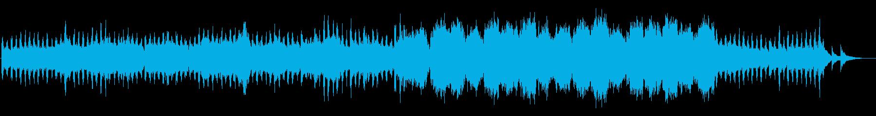 厳正な雰囲気のストリングスの再生済みの波形