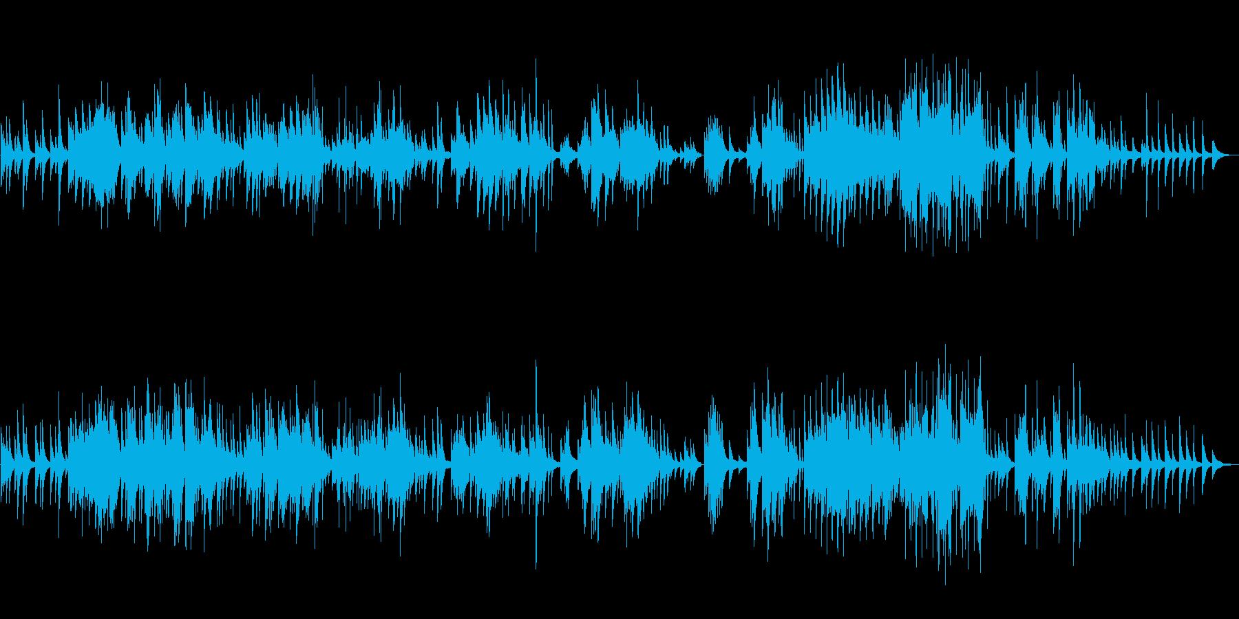 ピアノソロ楽曲です。24bit,48k…の再生済みの波形