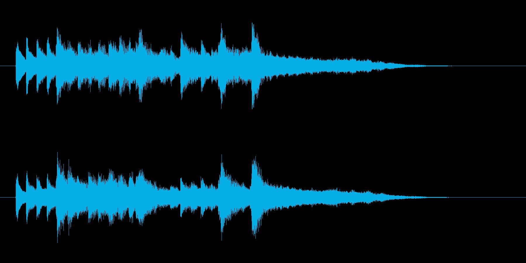 優しく切ないピアノのジングルの再生済みの波形