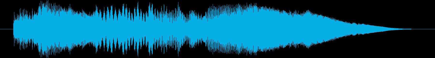 ホラーやアクションゲームのクリア時のジ…の再生済みの波形