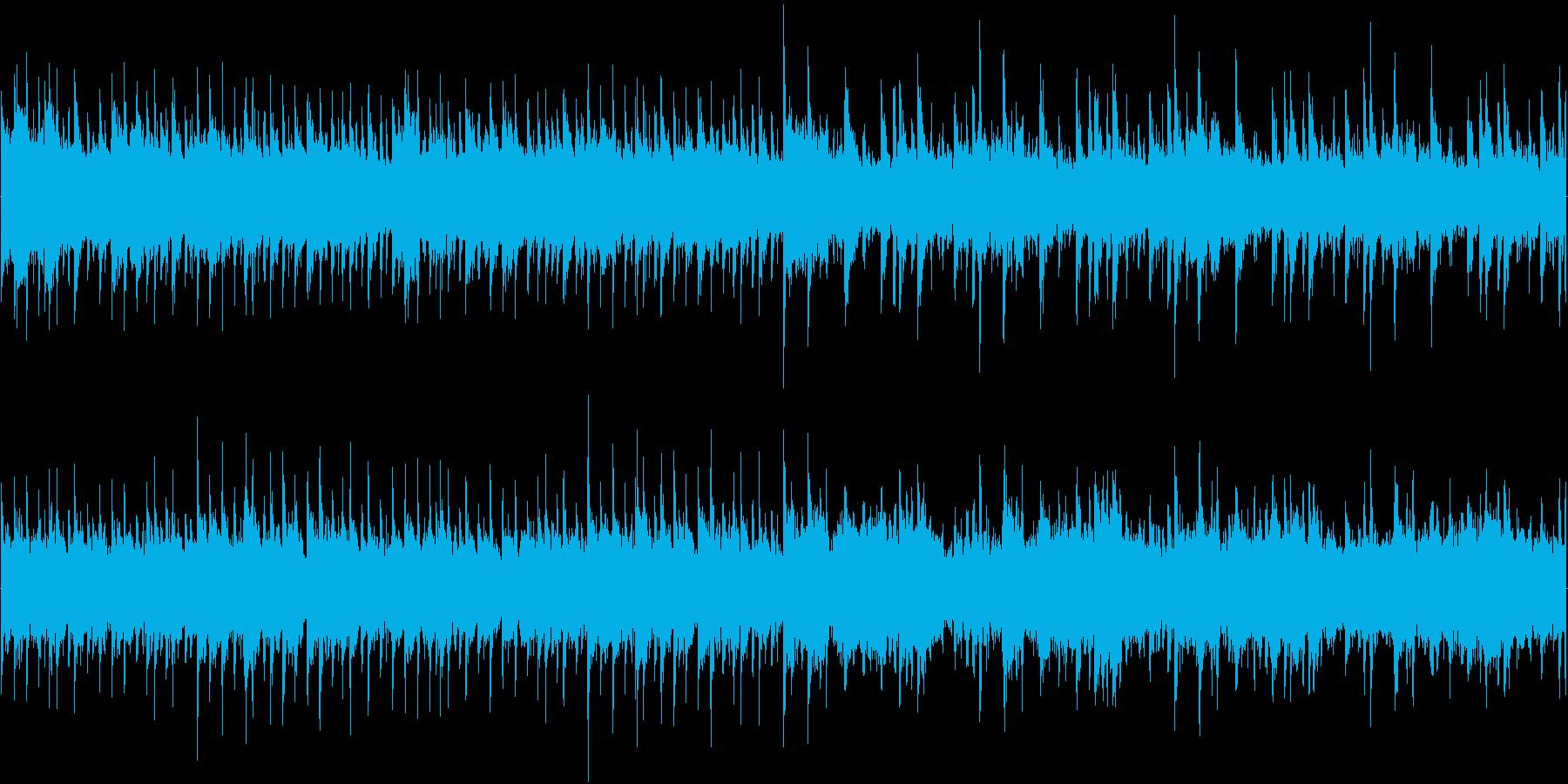 134bpm、E-Maj、16ビート(円の再生済みの波形