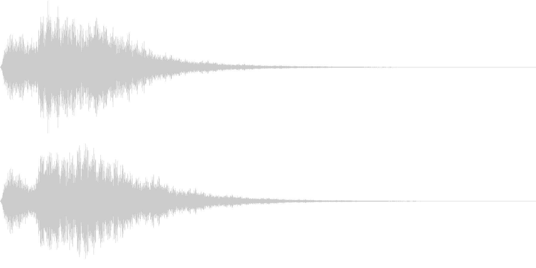 EMail 送受信音 ガラケー風 映像用の未再生の波形