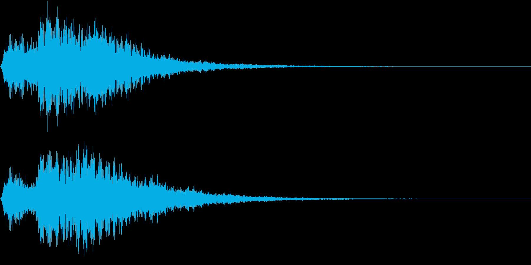 EMail 送受信音 ガラケー風 映像用の再生済みの波形