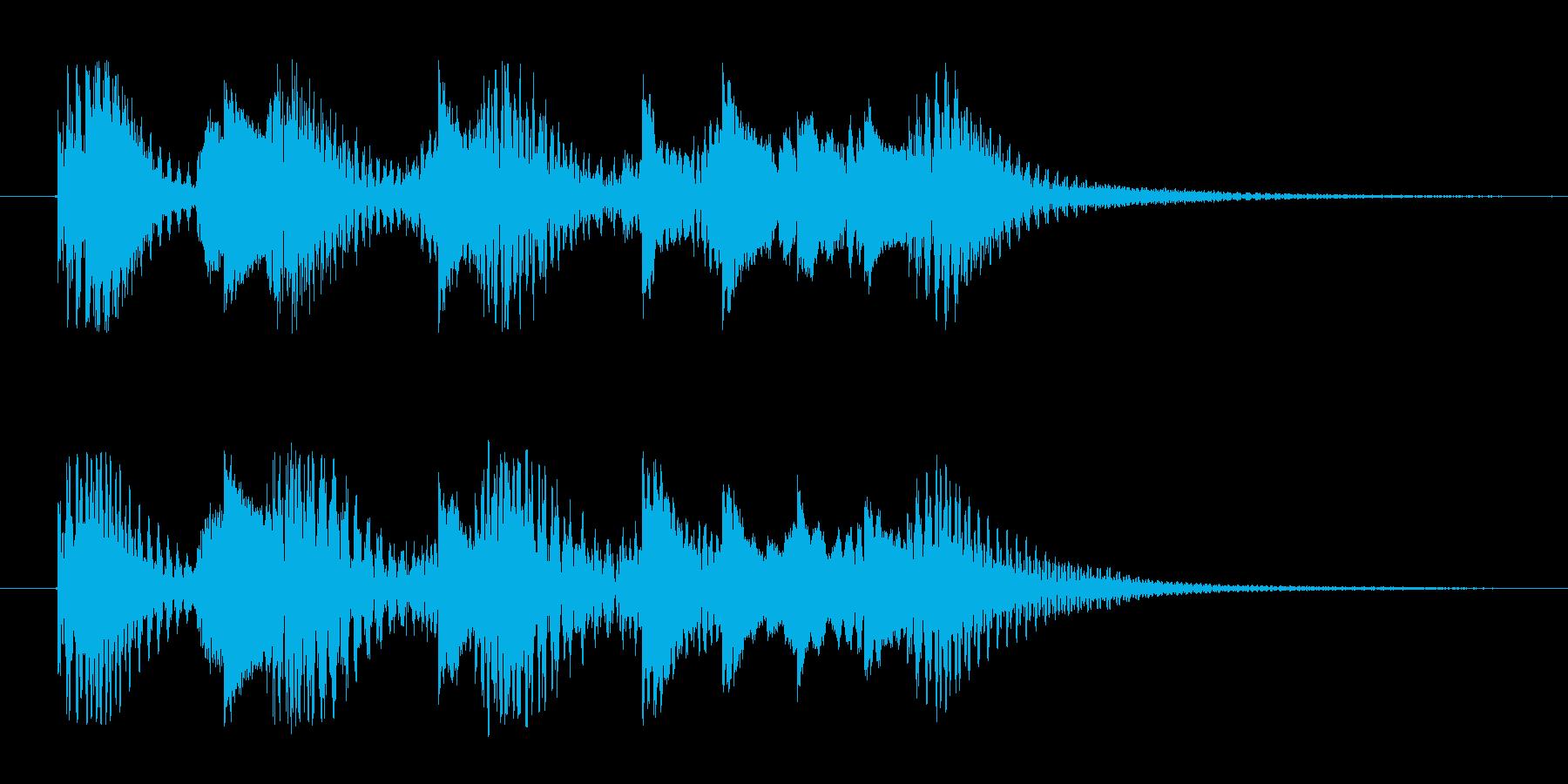 可愛いジングルの再生済みの波形