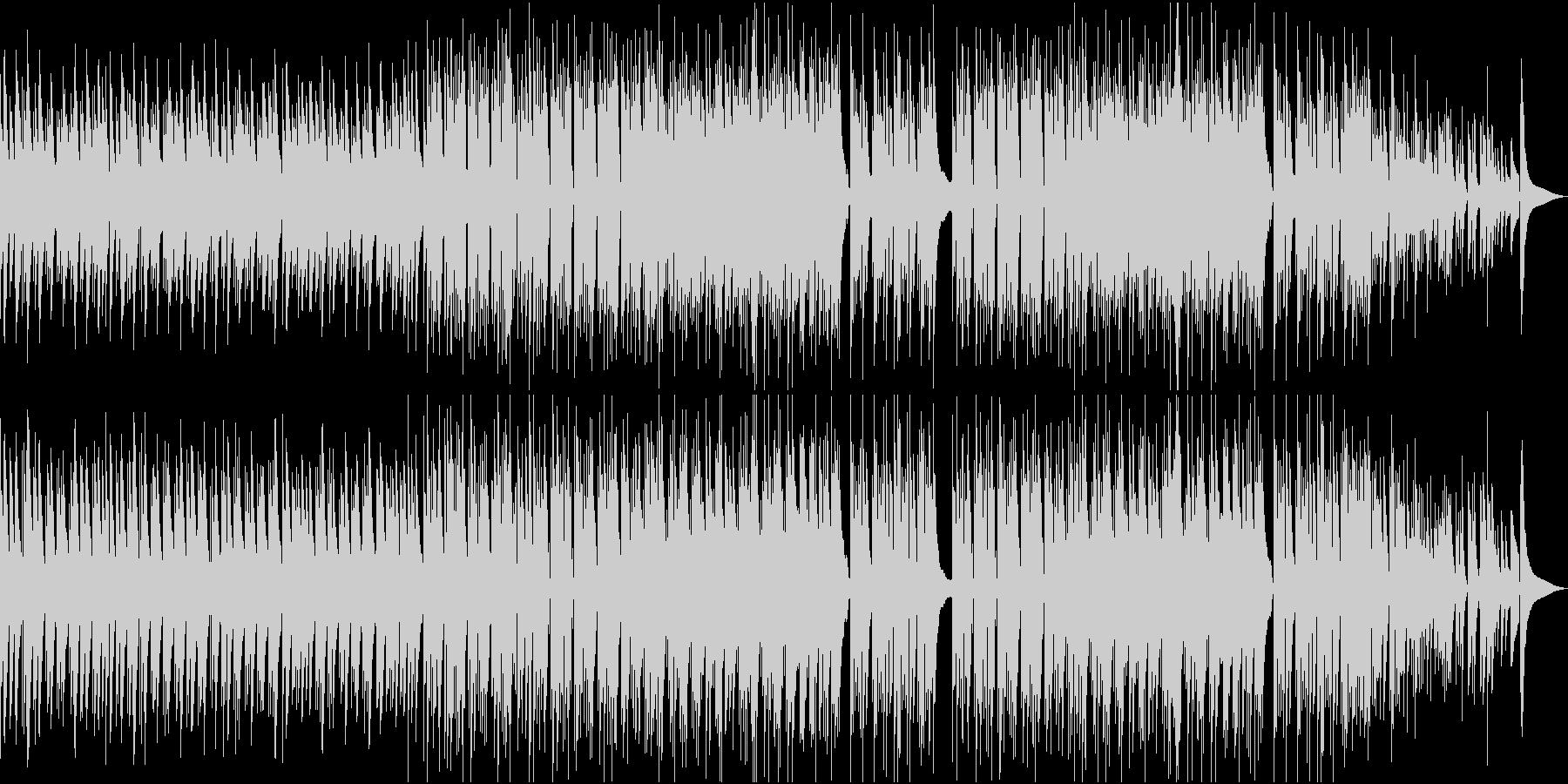 アコギと打楽器の爽やかな映像用BGMの未再生の波形