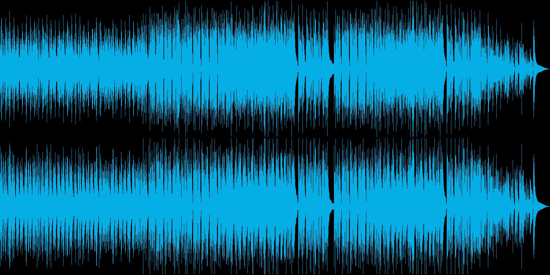 アコギと打楽器の爽やかな映像用BGMの再生済みの波形