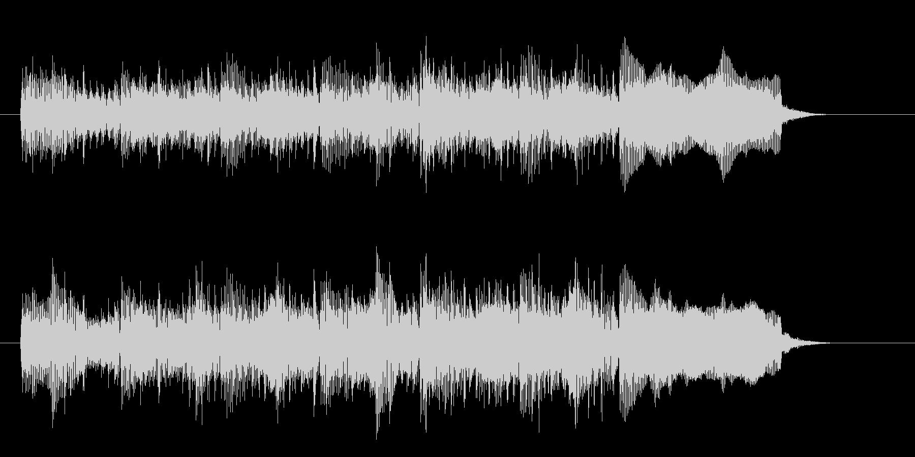 シンセサイザーのカッコいいメロディーの未再生の波形