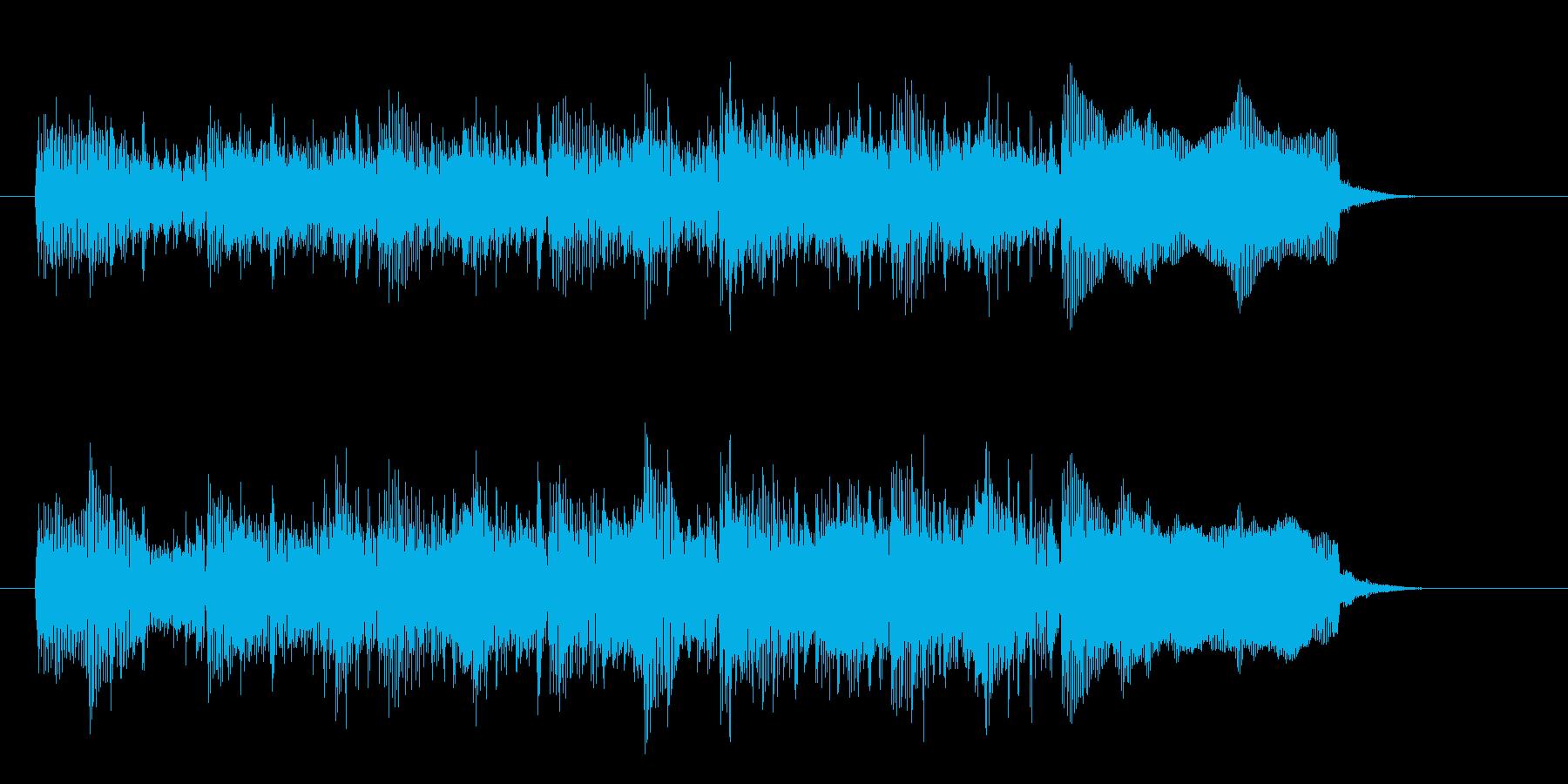 シンセサイザーのカッコいいメロディーの再生済みの波形