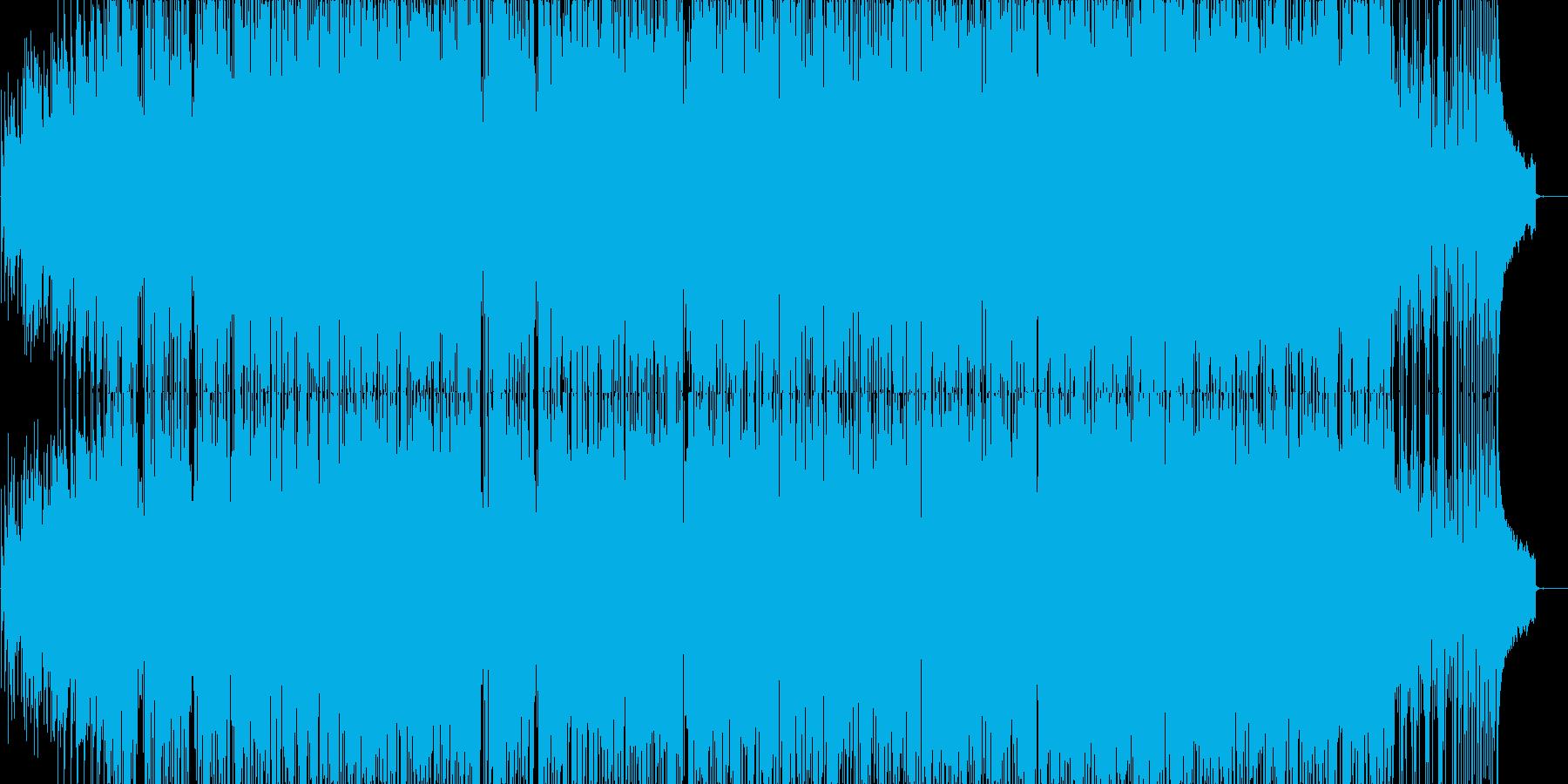 軽快なピアノを基調にしたポップスの再生済みの波形