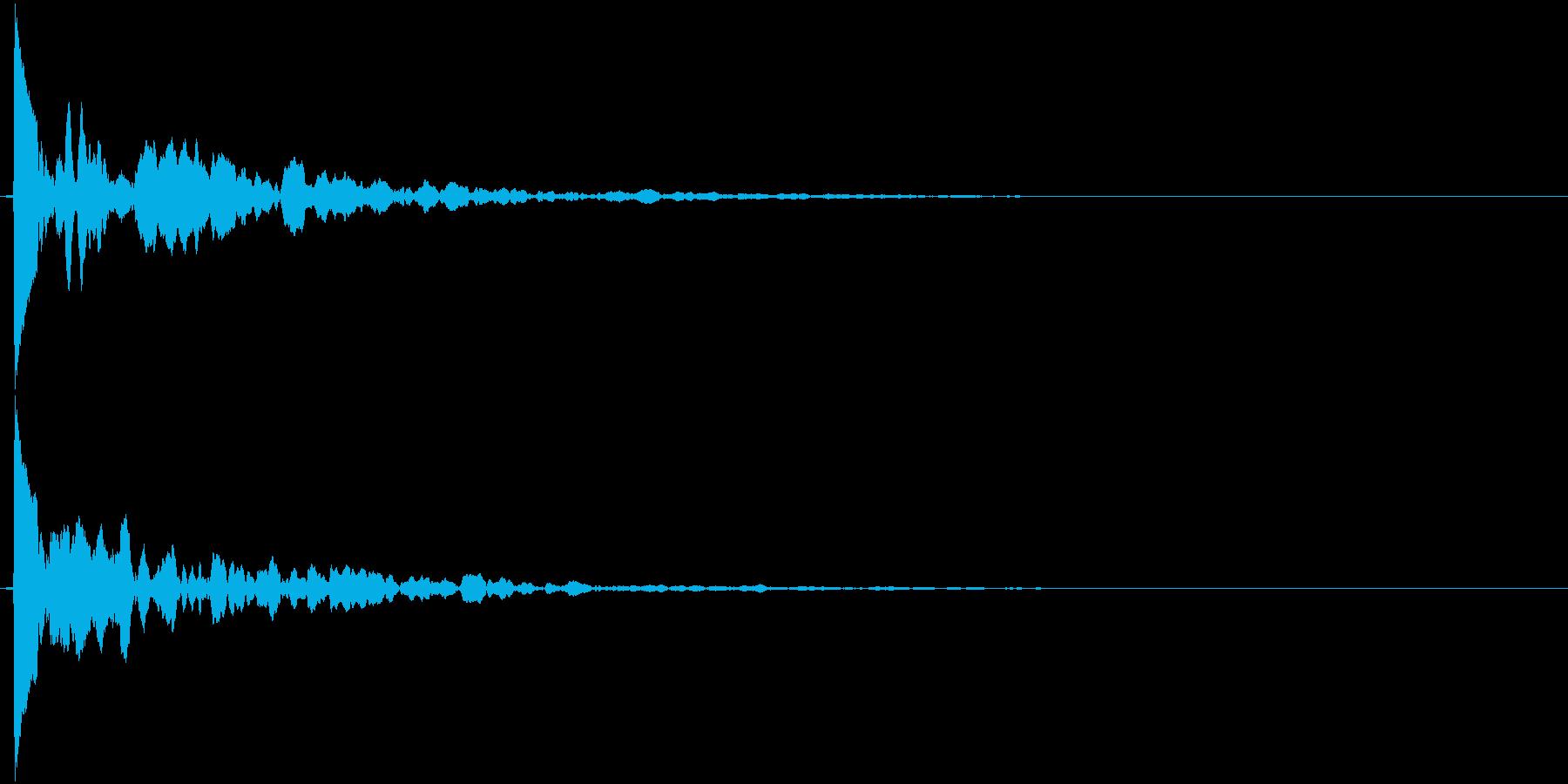 ポーン(響き系)の再生済みの波形