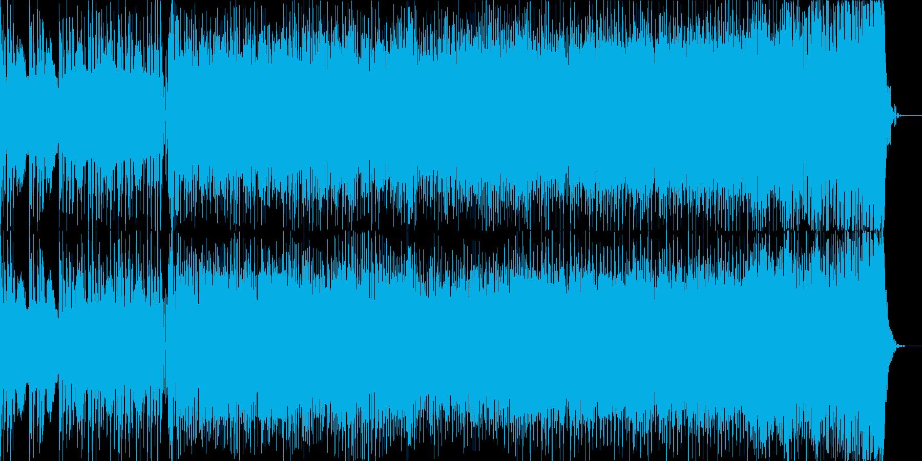 スピード感溢れるトランス風バトルテーマの再生済みの波形