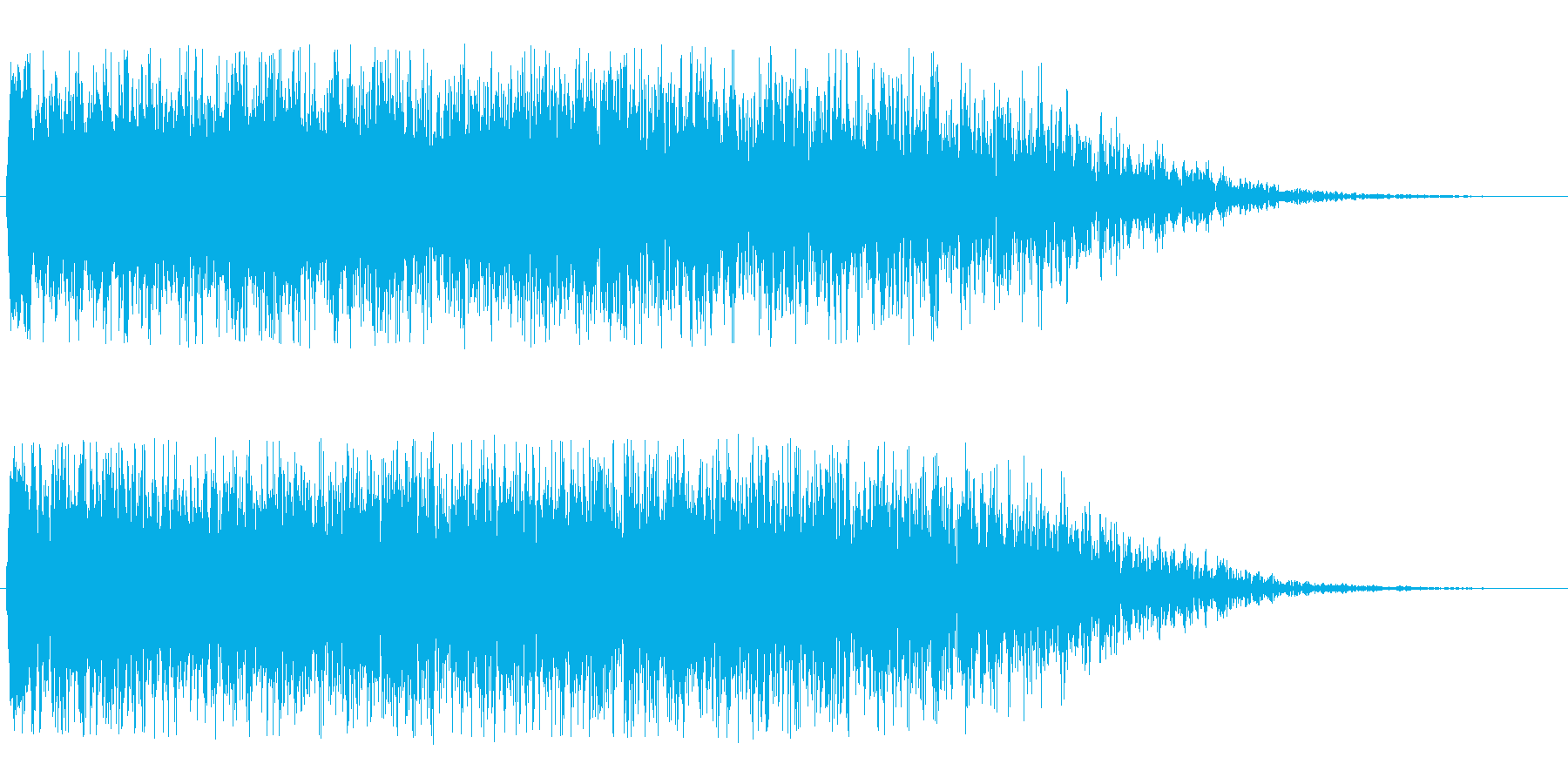 宇宙船通過(キューーンという甲高い音)の再生済みの波形