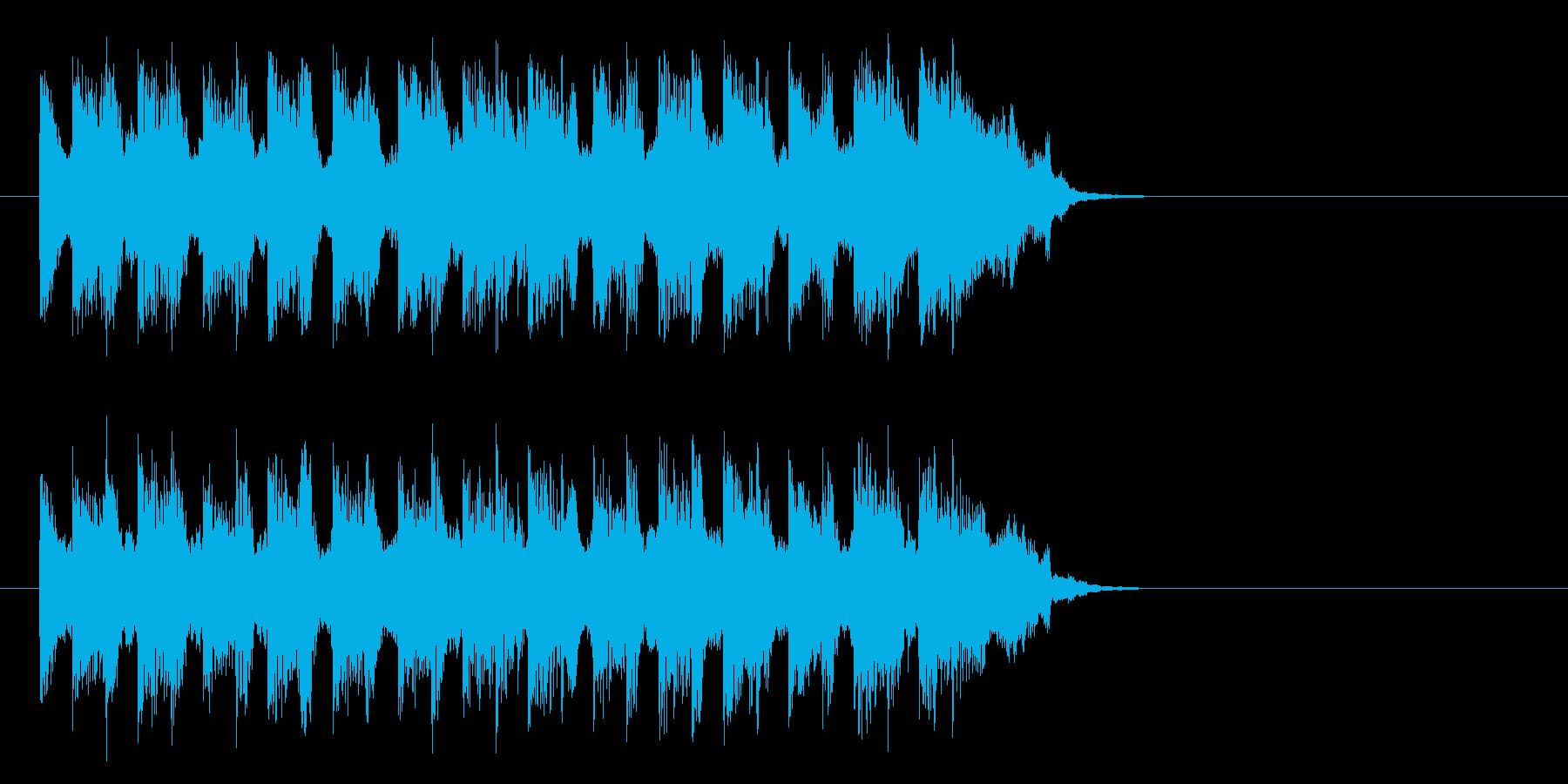 自由自在に駆け回るポップ(Aメロ)の再生済みの波形