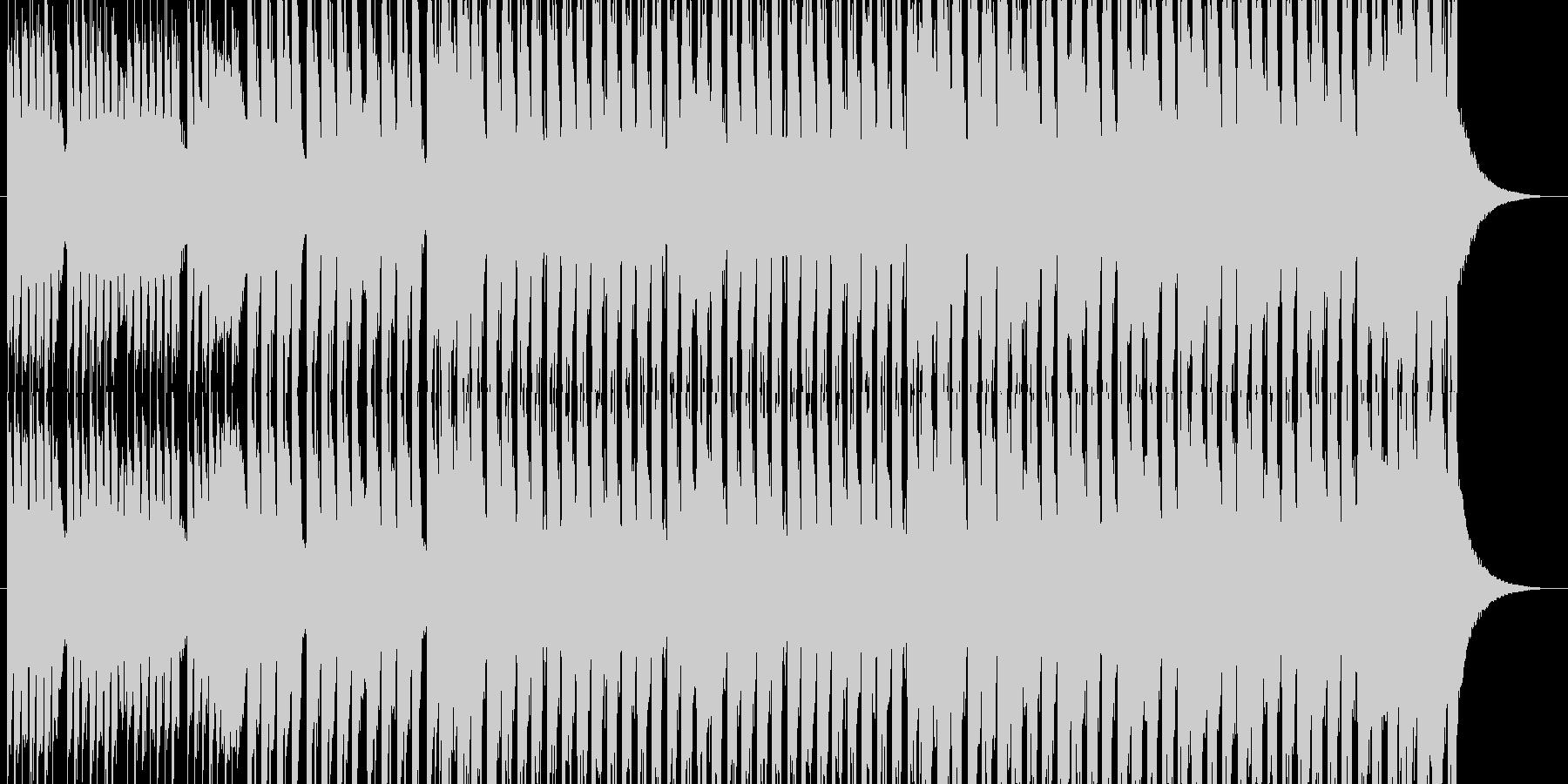 洋楽チックなメロのテクノの未再生の波形