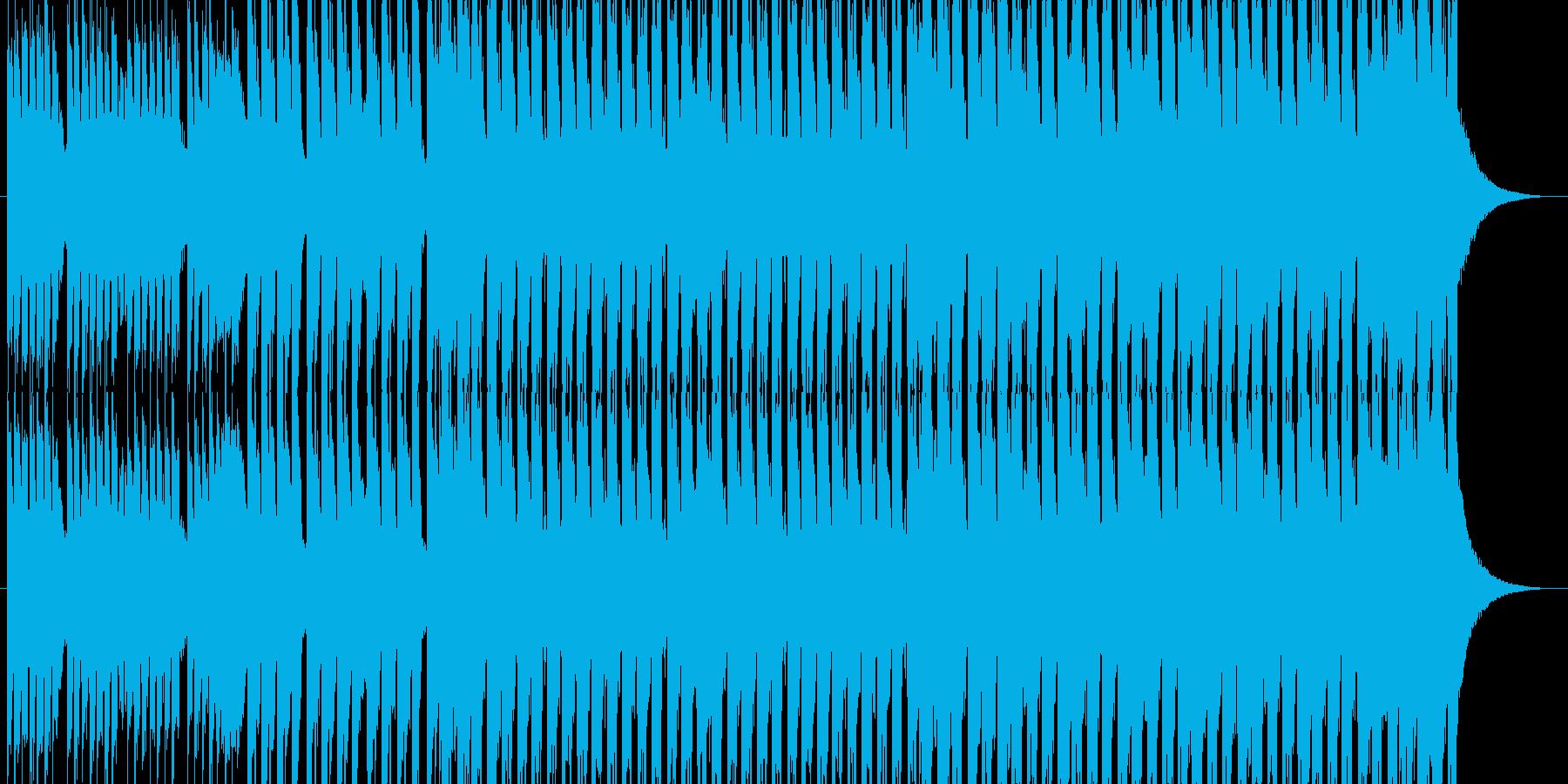 洋楽チックなメロのテクノの再生済みの波形