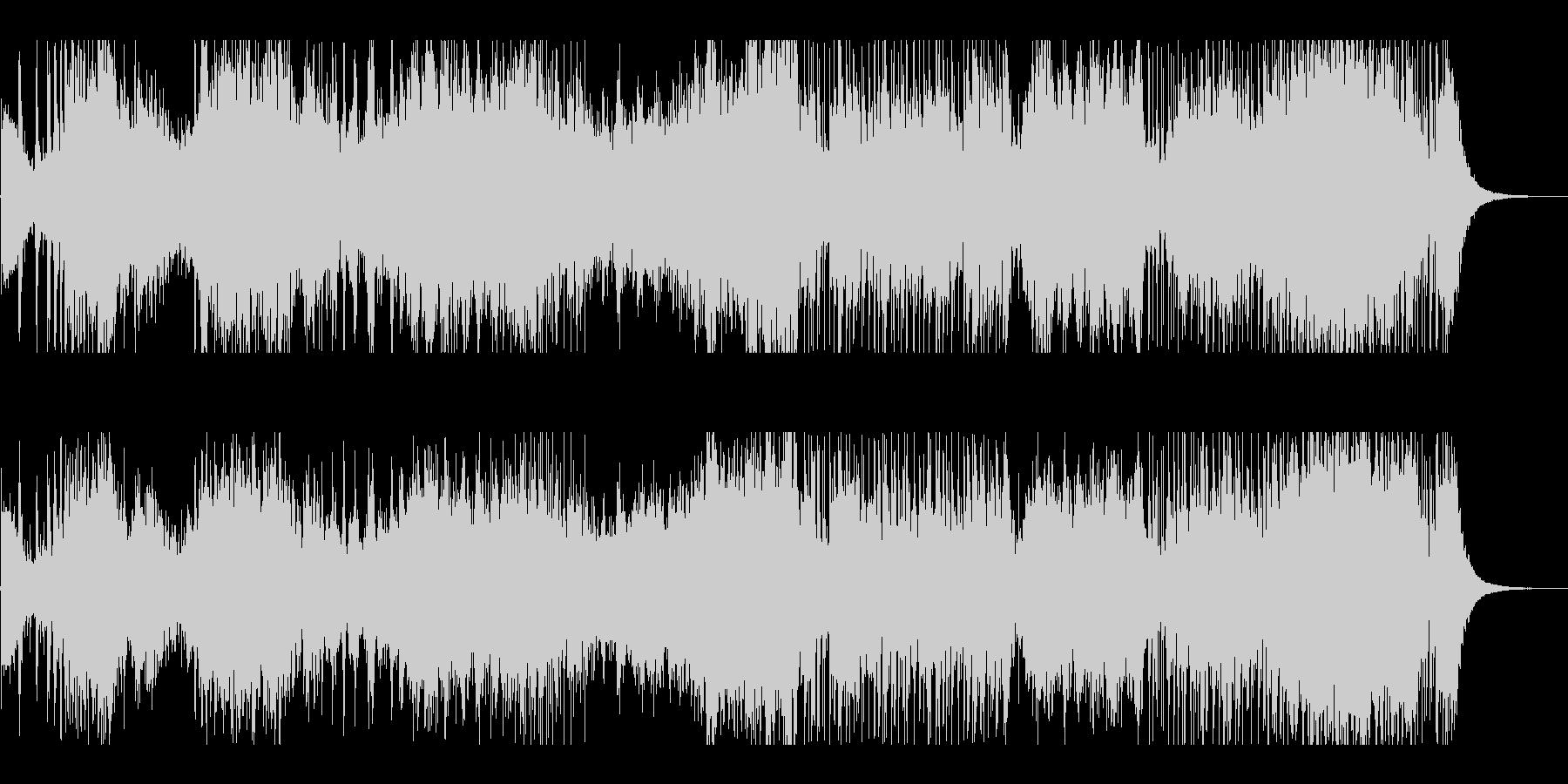 和太鼓やドラによる激しいリズムのみの音楽の未再生の波形