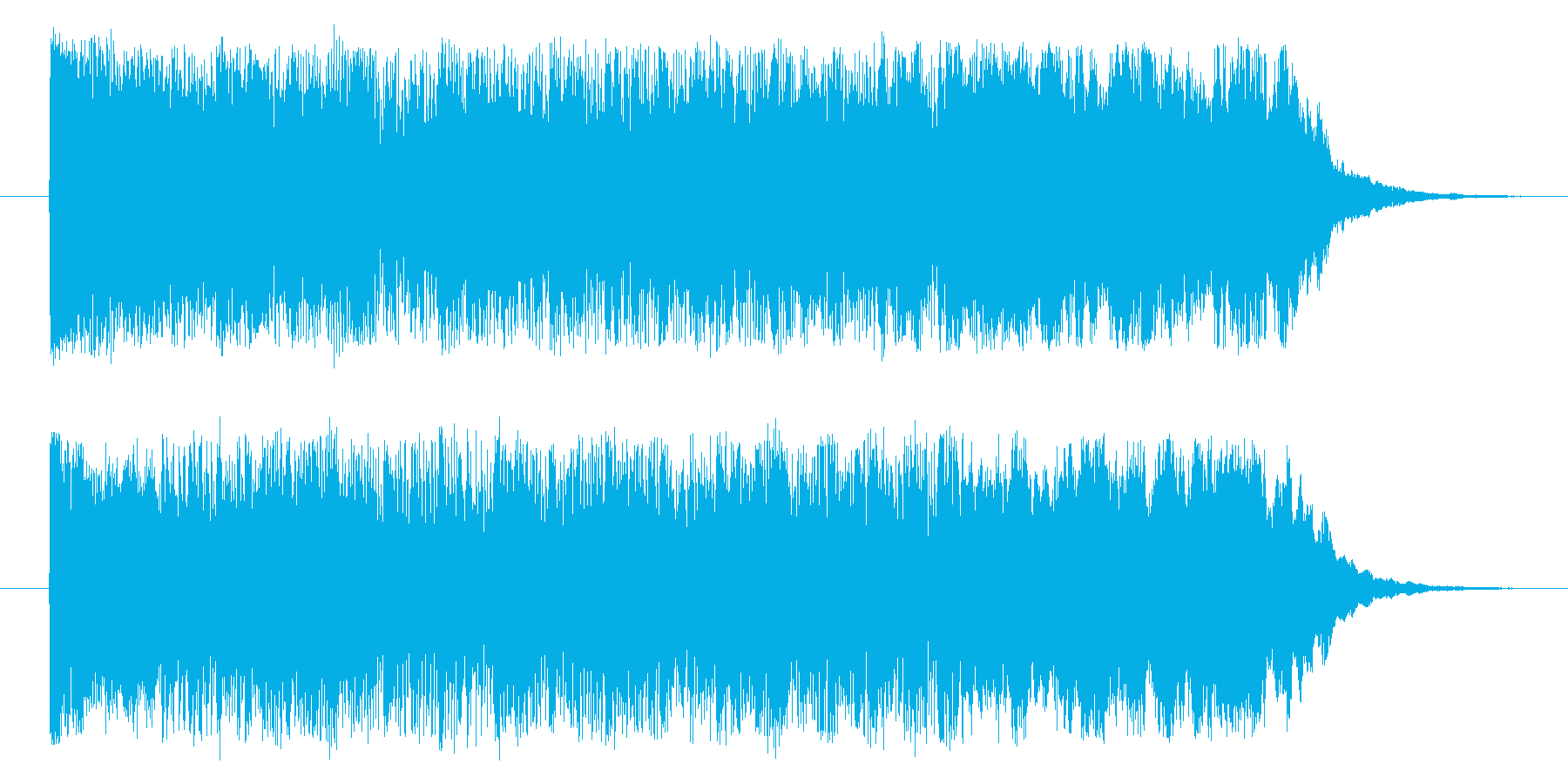 勝利のジングルの再生済みの波形