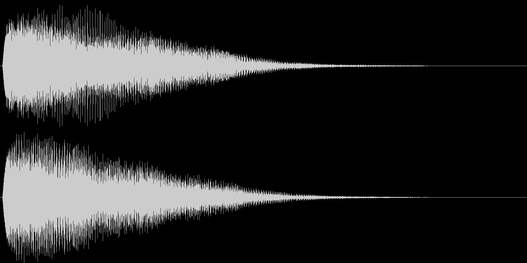 ドヨ~ン。落ち込む音Bの未再生の波形