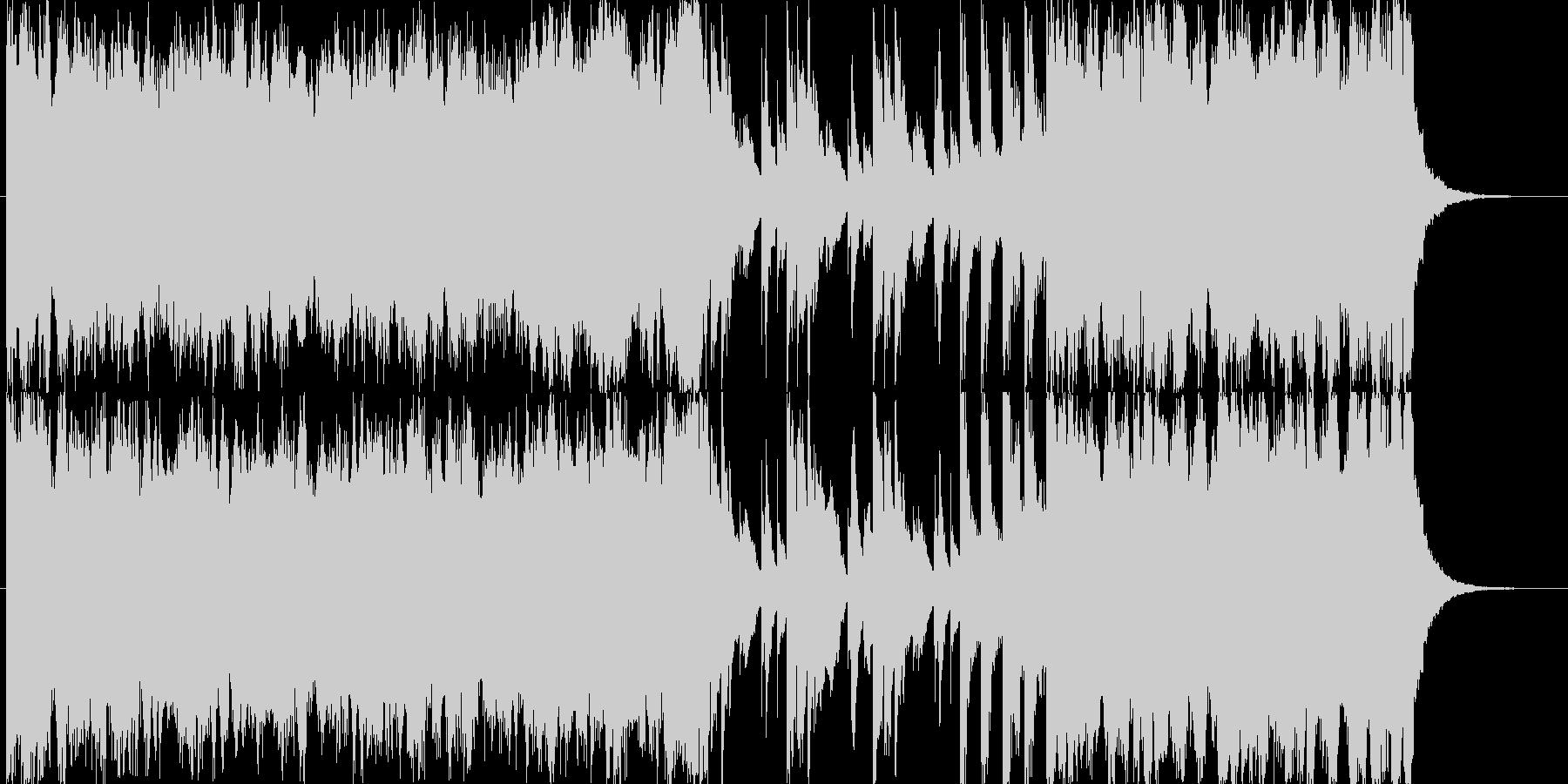オープニングSEをイメージした明るい楽曲の未再生の波形