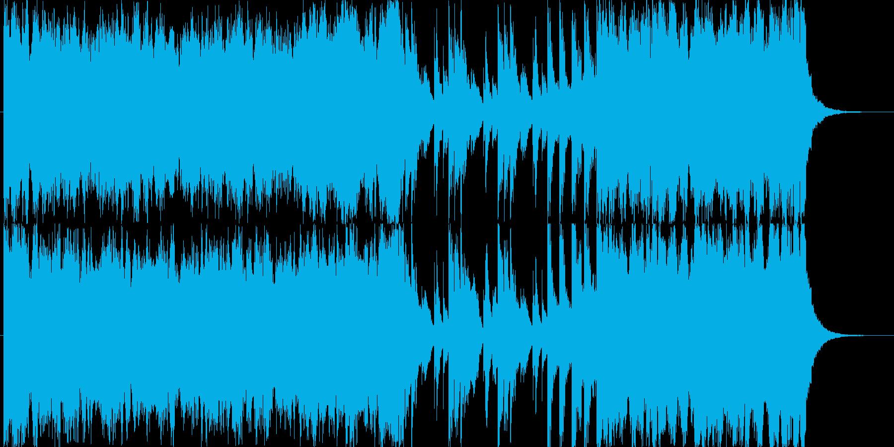 オープニングSEをイメージした明るい楽曲の再生済みの波形