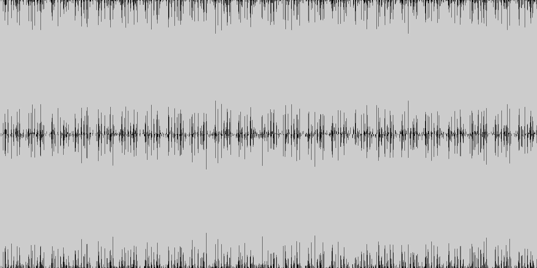 6bitなクラッシュドラムスにアナログ…の未再生の波形