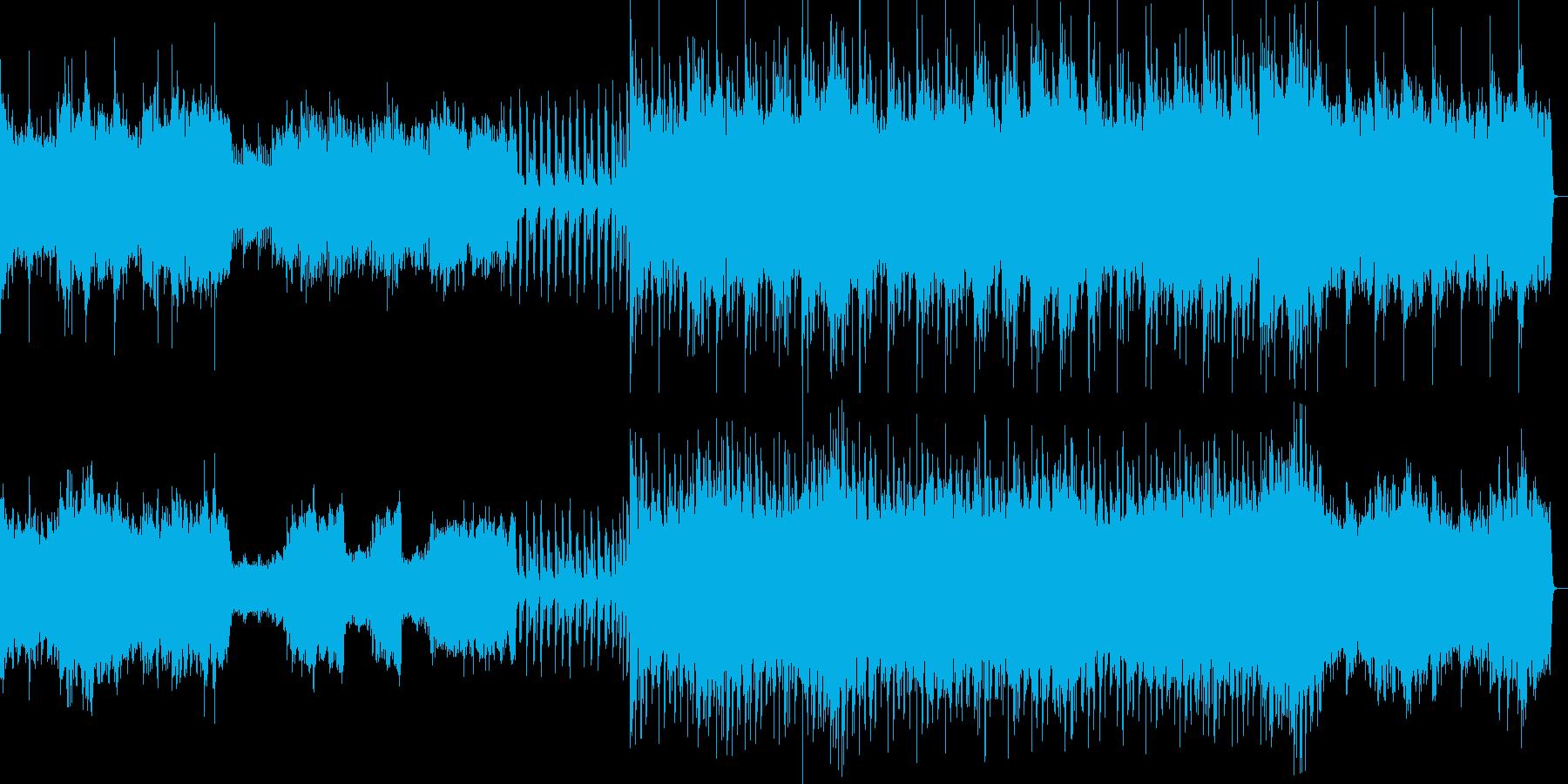 幸せな雰囲気のオーケストラの再生済みの波形