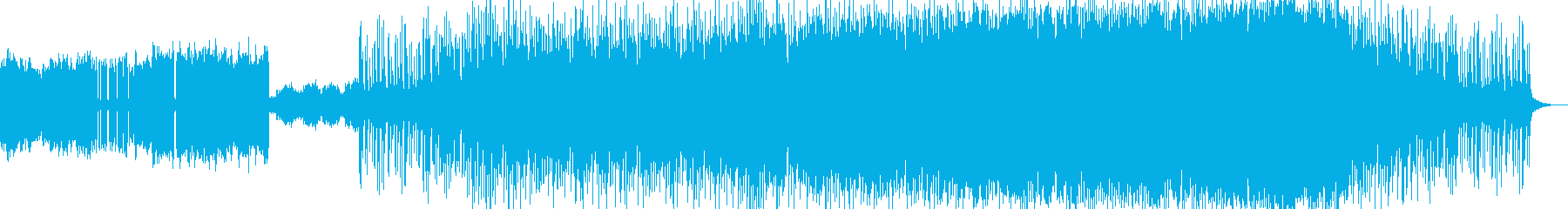 ゆったりとした、でも怪しげな感じもある曲の再生済みの波形
