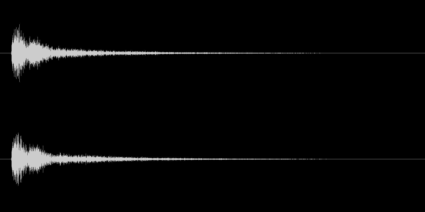 【アクセント14-4】の未再生の波形