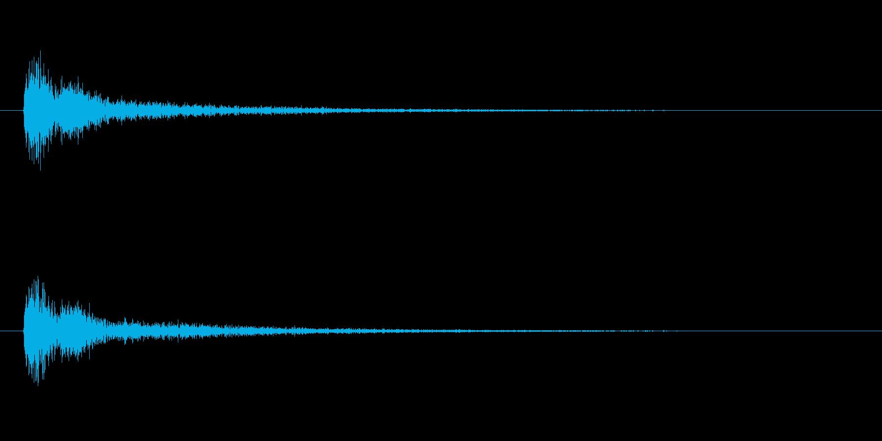 【アクセント14-4】の再生済みの波形