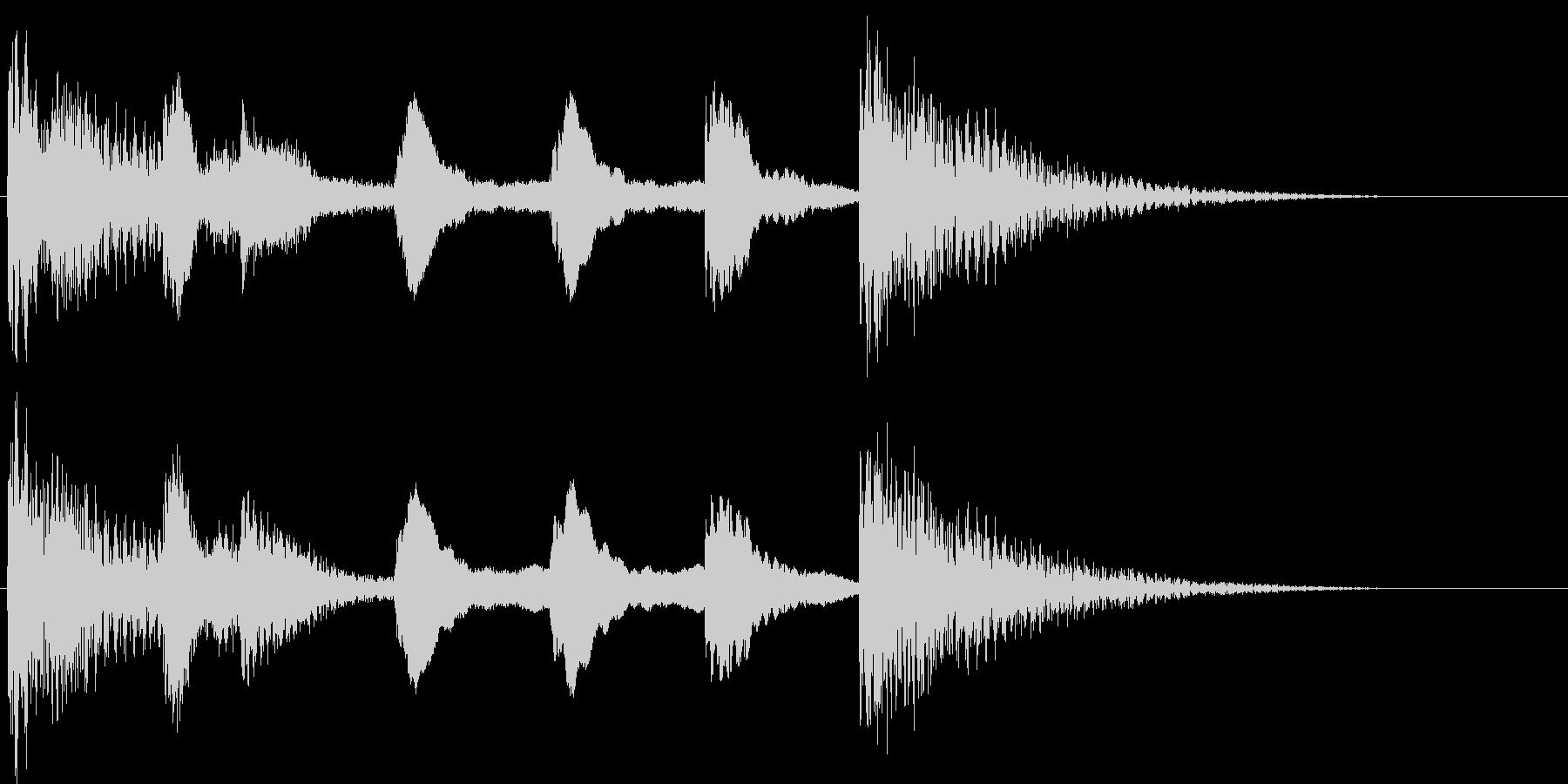 サウンドロゴ等(スティールパン)の未再生の波形
