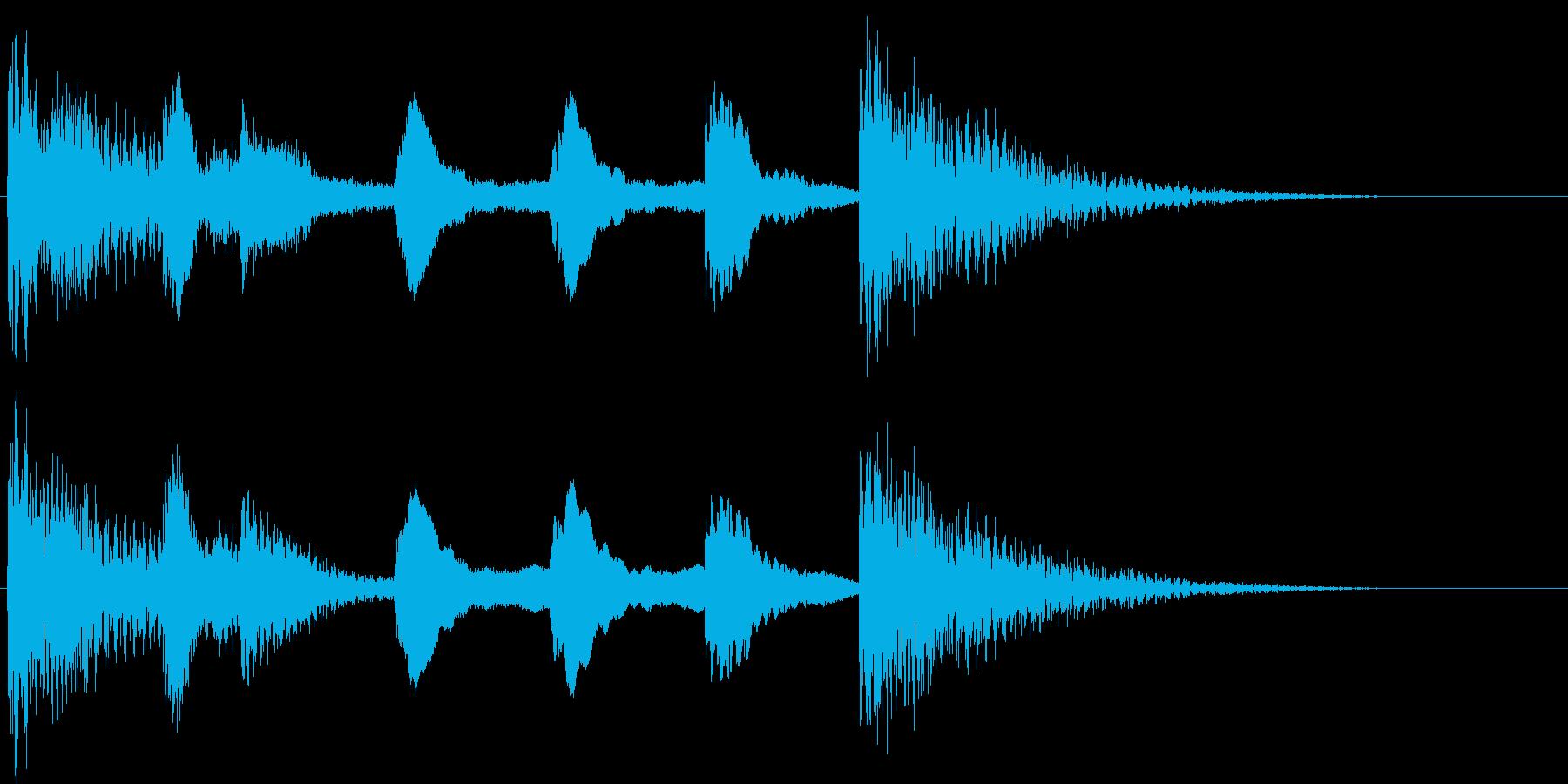 サウンドロゴ等(スティールパン)の再生済みの波形