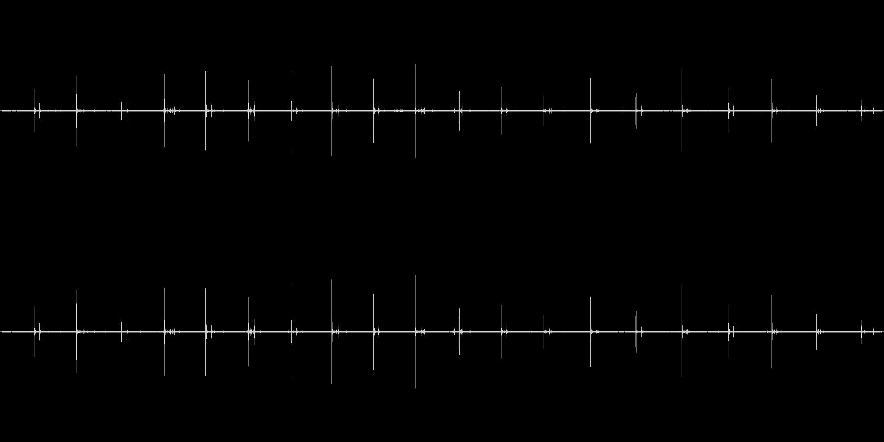【生音】歩く・アスファルト - 2 「…の未再生の波形