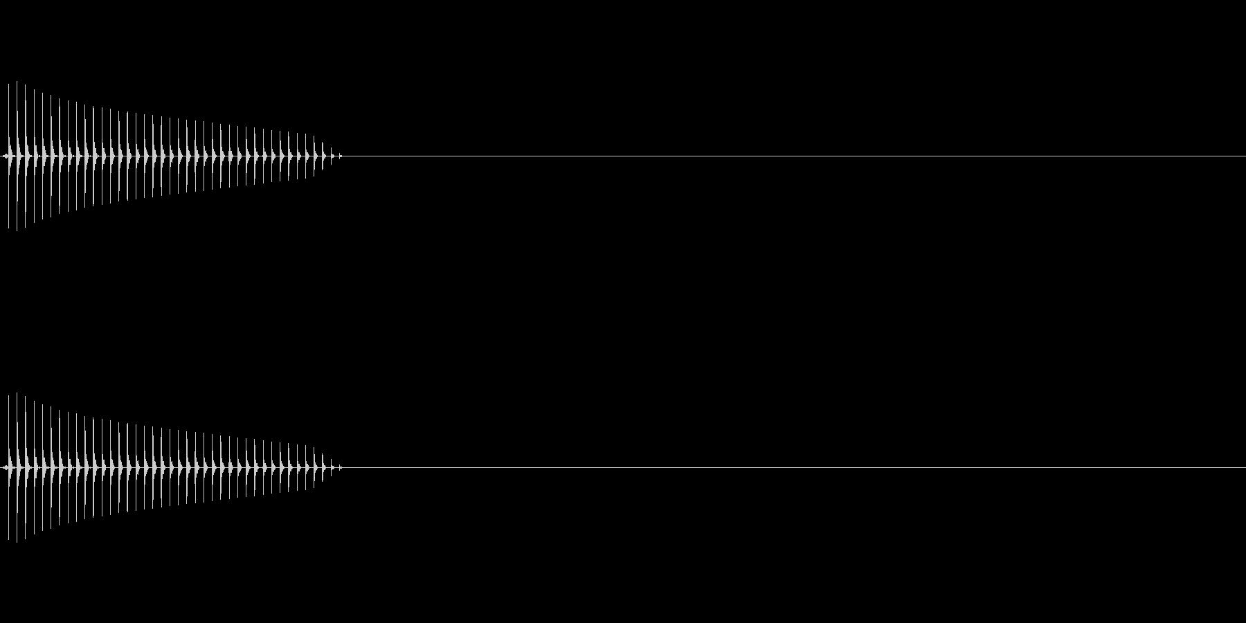 クイズの不正解時などになるような音の未再生の波形