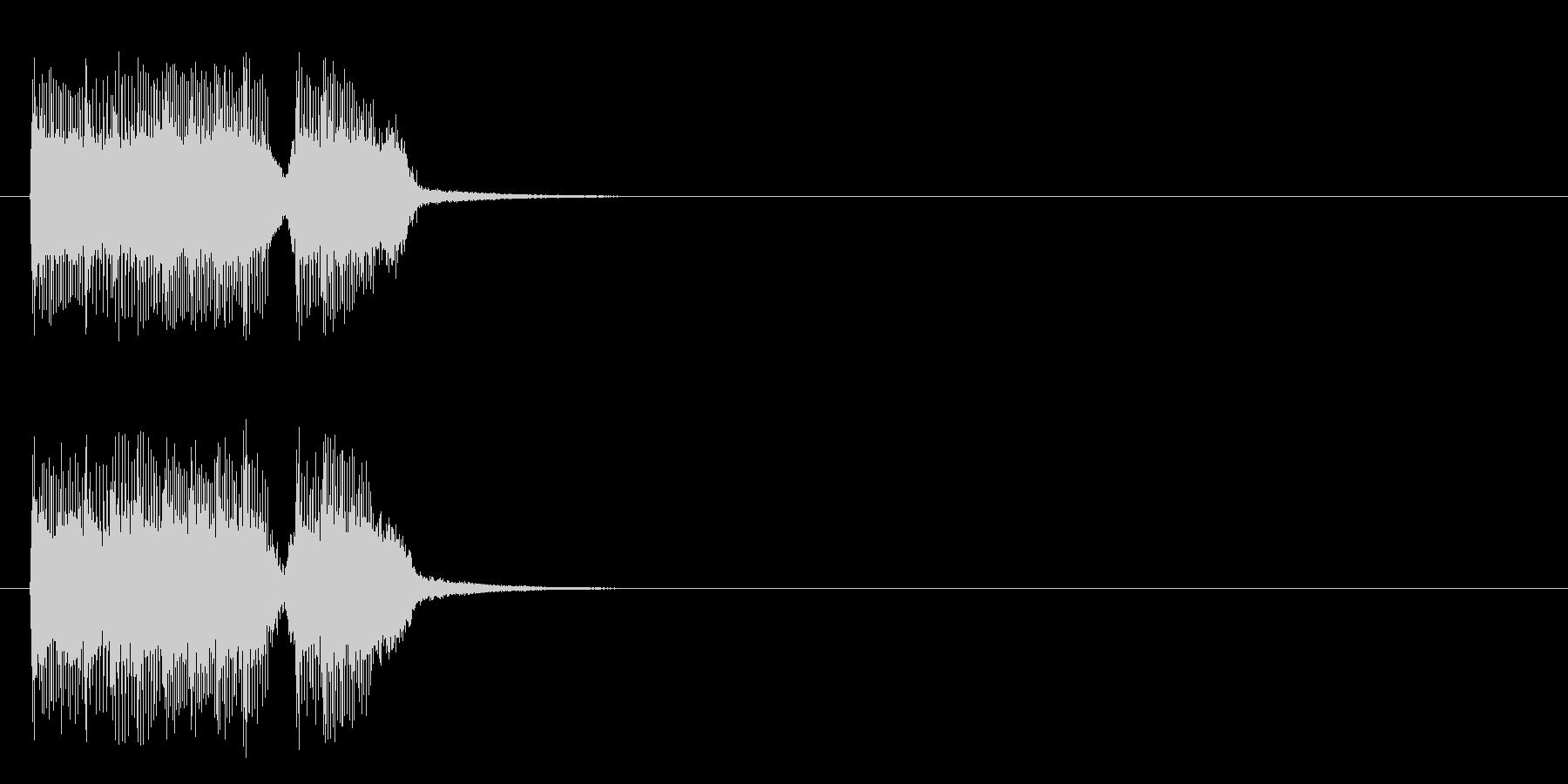 ジングル/アタック(ロック/ハード)の未再生の波形