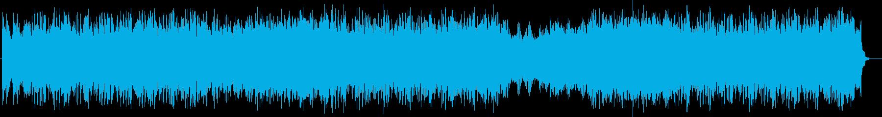 近未来や宇宙感のシンセサイザーサウンドの再生済みの波形