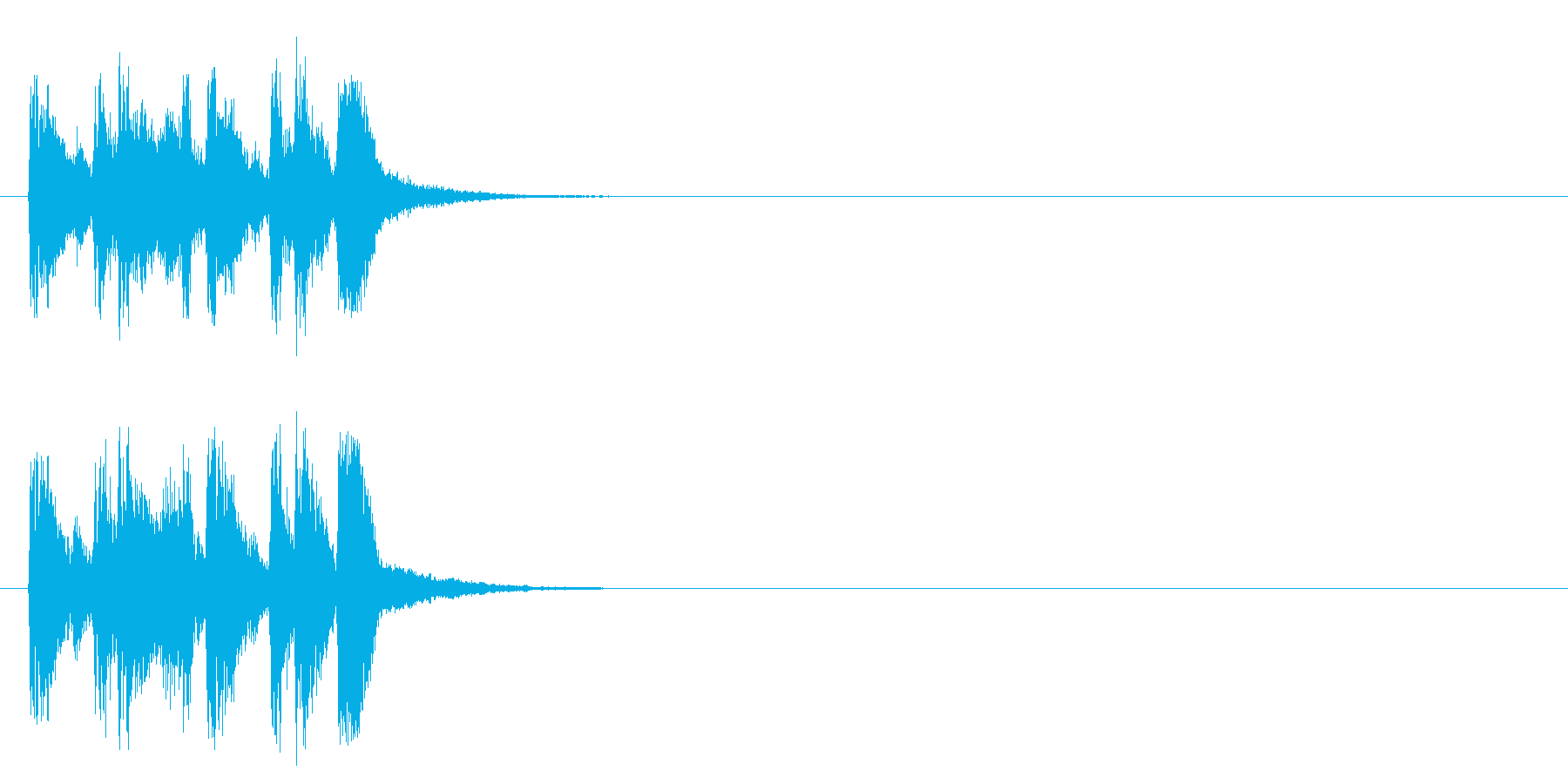 ジングル/アタック(ポップ/ラテン)の再生済みの波形