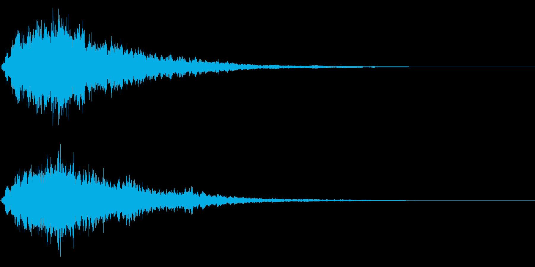 キラキラ輝く テロップ音 ボタン音01の再生済みの波形