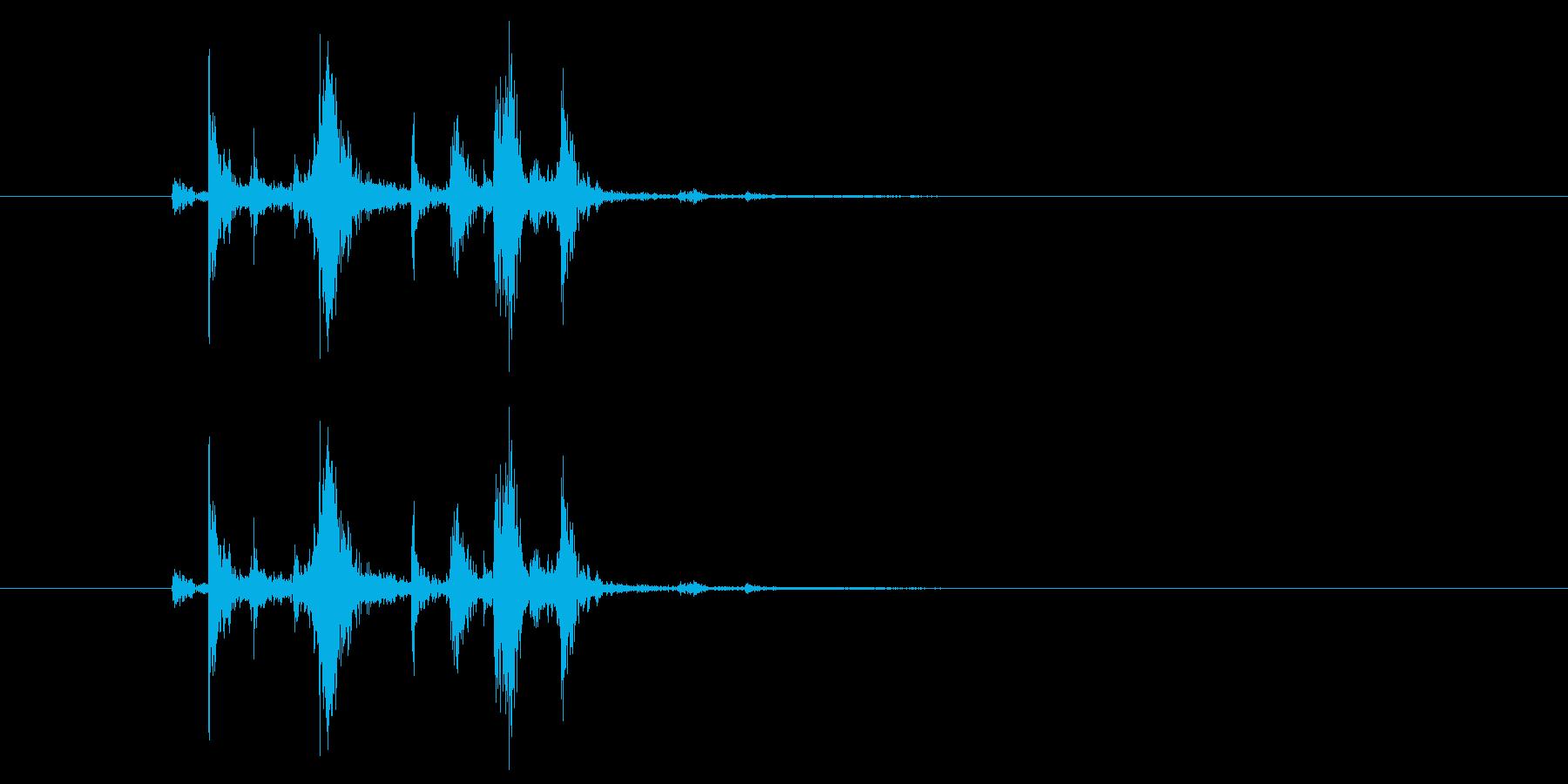レバーを入れる_スイッチを入れる_ガチャの再生済みの波形
