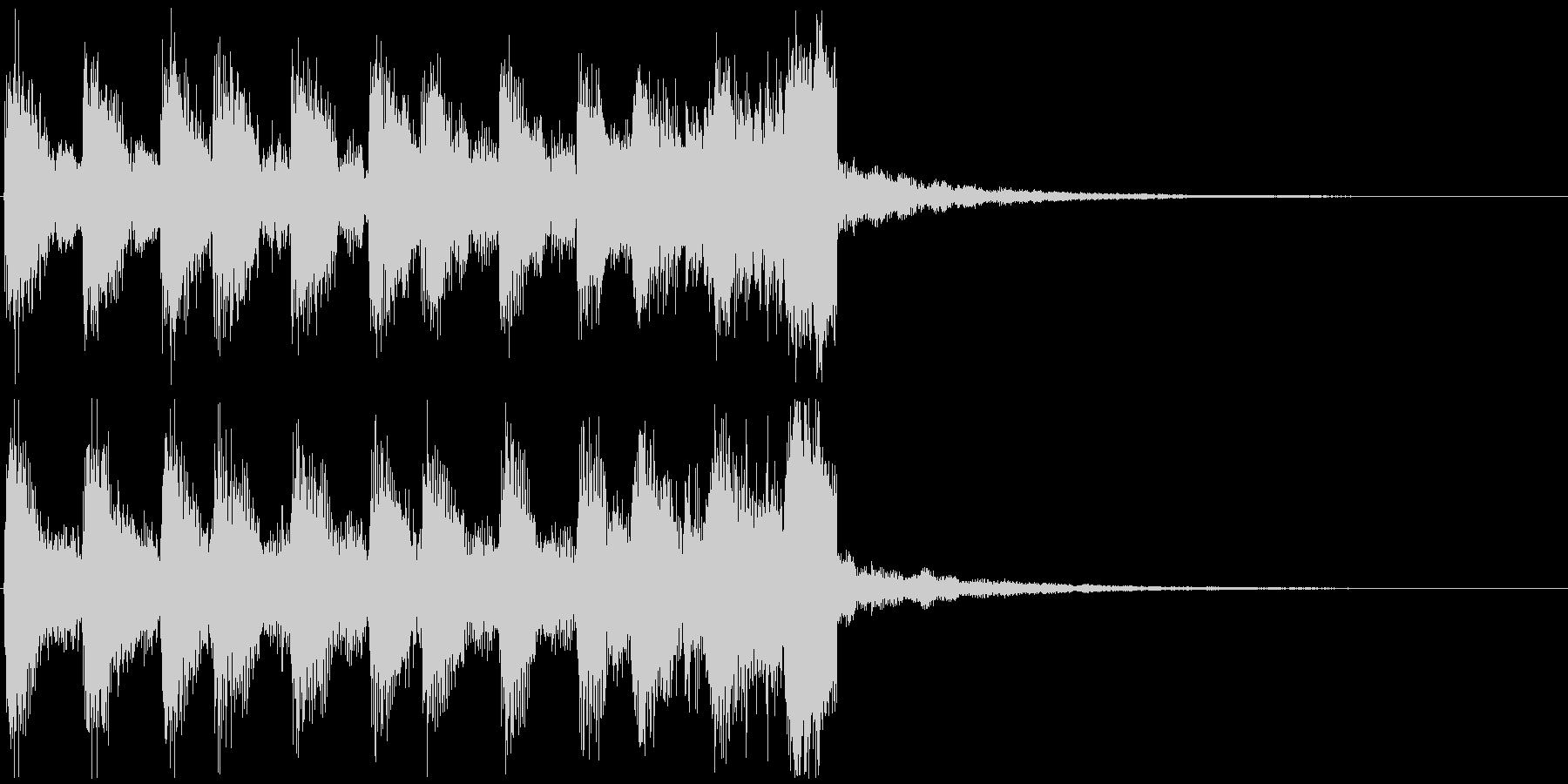 かっこいいサウンドロゴの未再生の波形