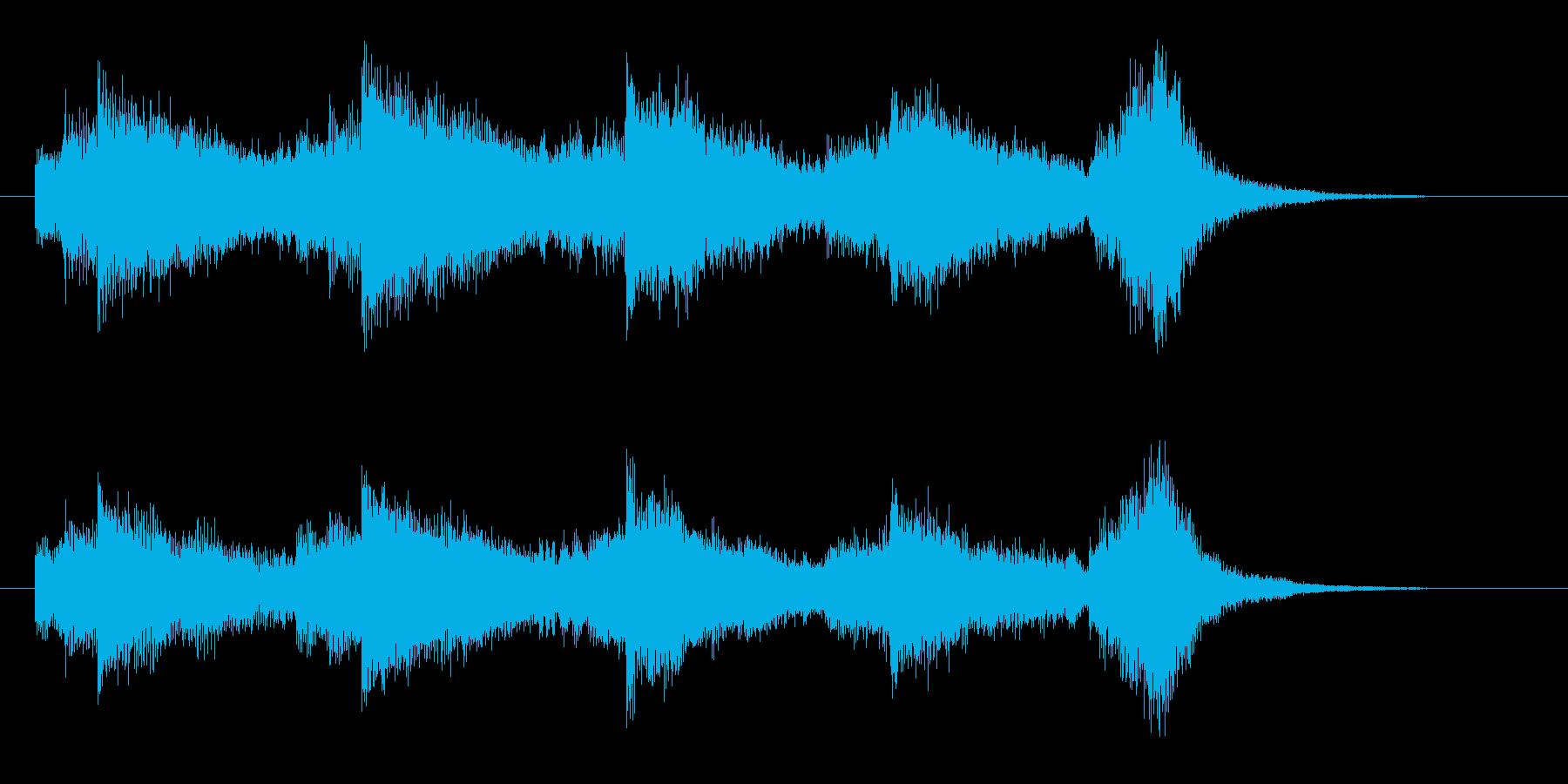 悠長で幻想的なヒーリングジングルの再生済みの波形