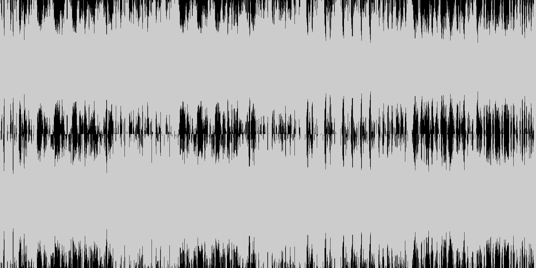 激しいオーケストラのループ楽曲です。の未再生の波形