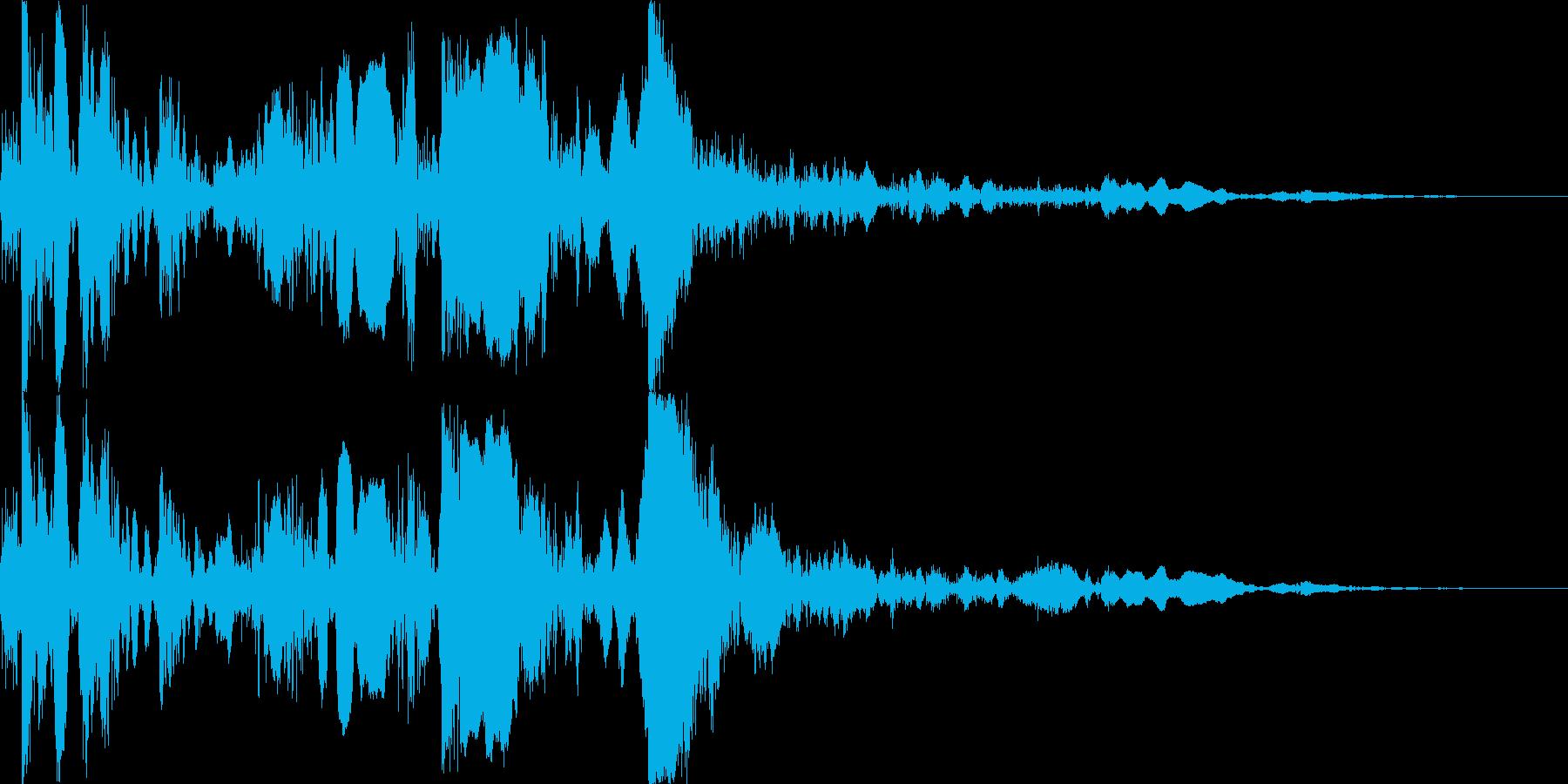 バタンと倒れるの再生済みの波形