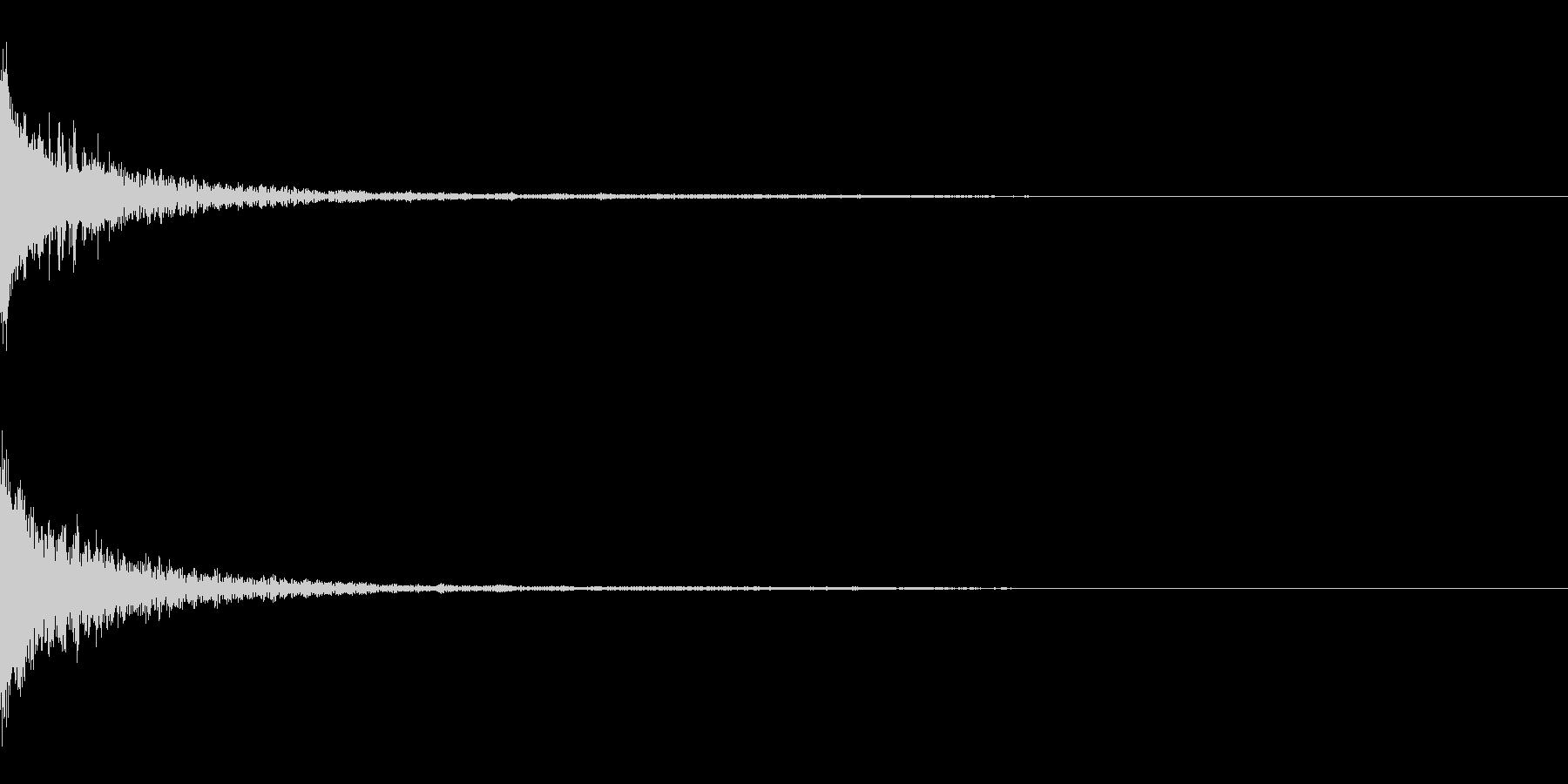 重厚な決定音の未再生の波形