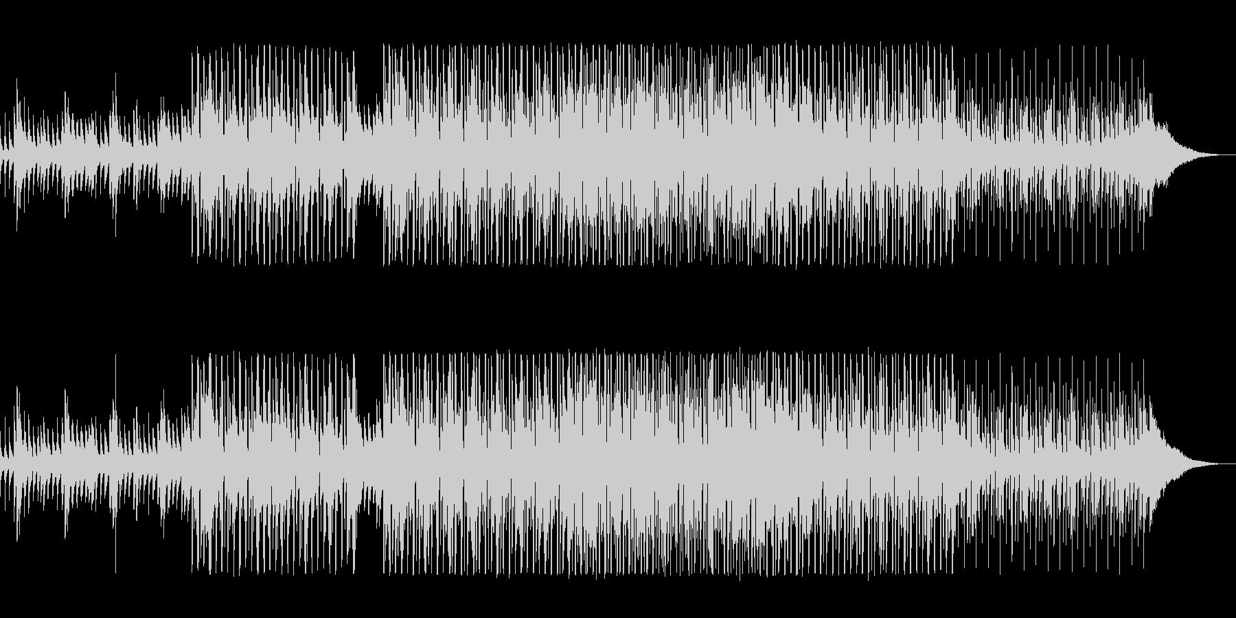ダークな印象のEDMの未再生の波形